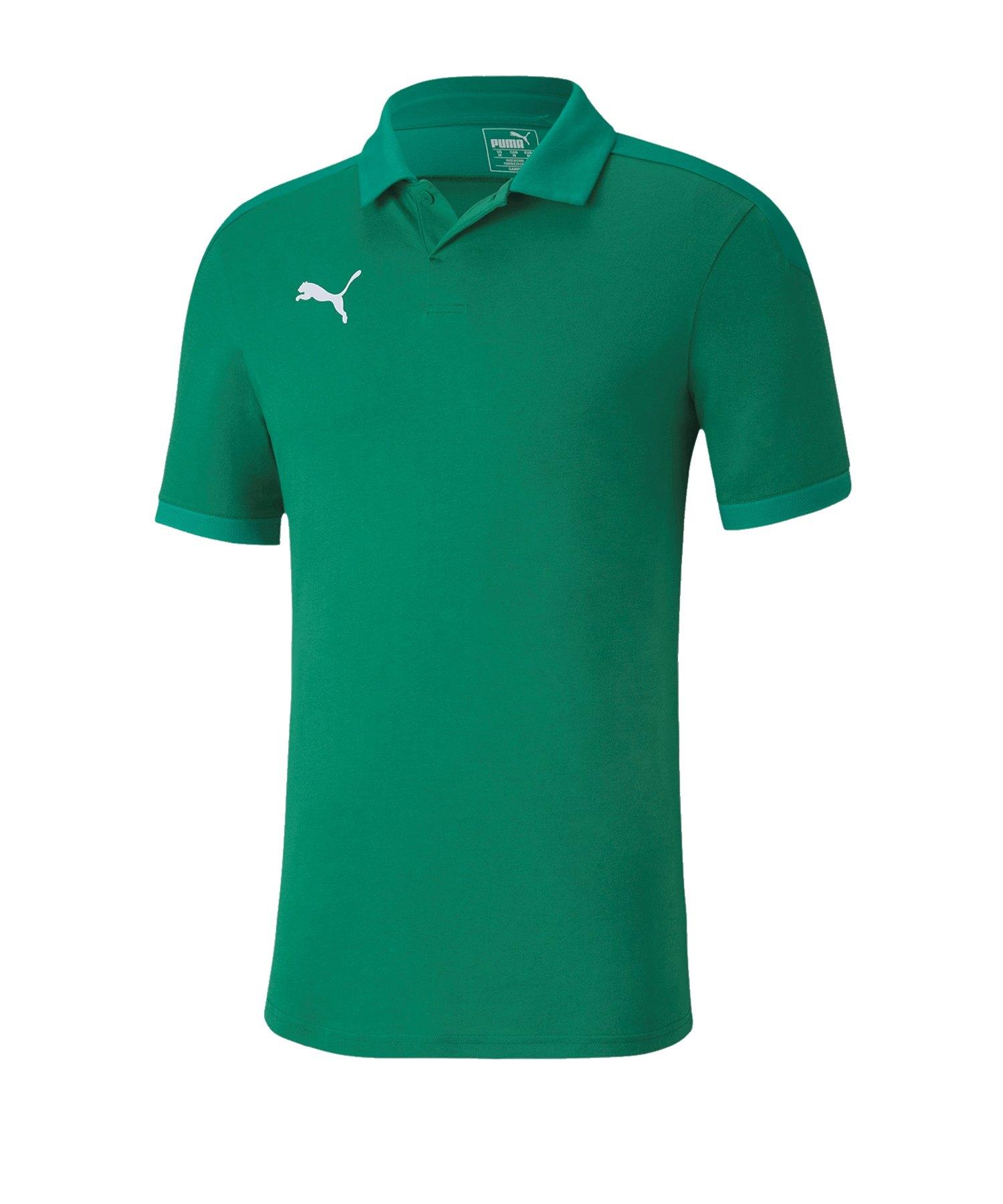 PUMA teamFINAL 21 Sideline Poloshirt Grün F05 - Gruen