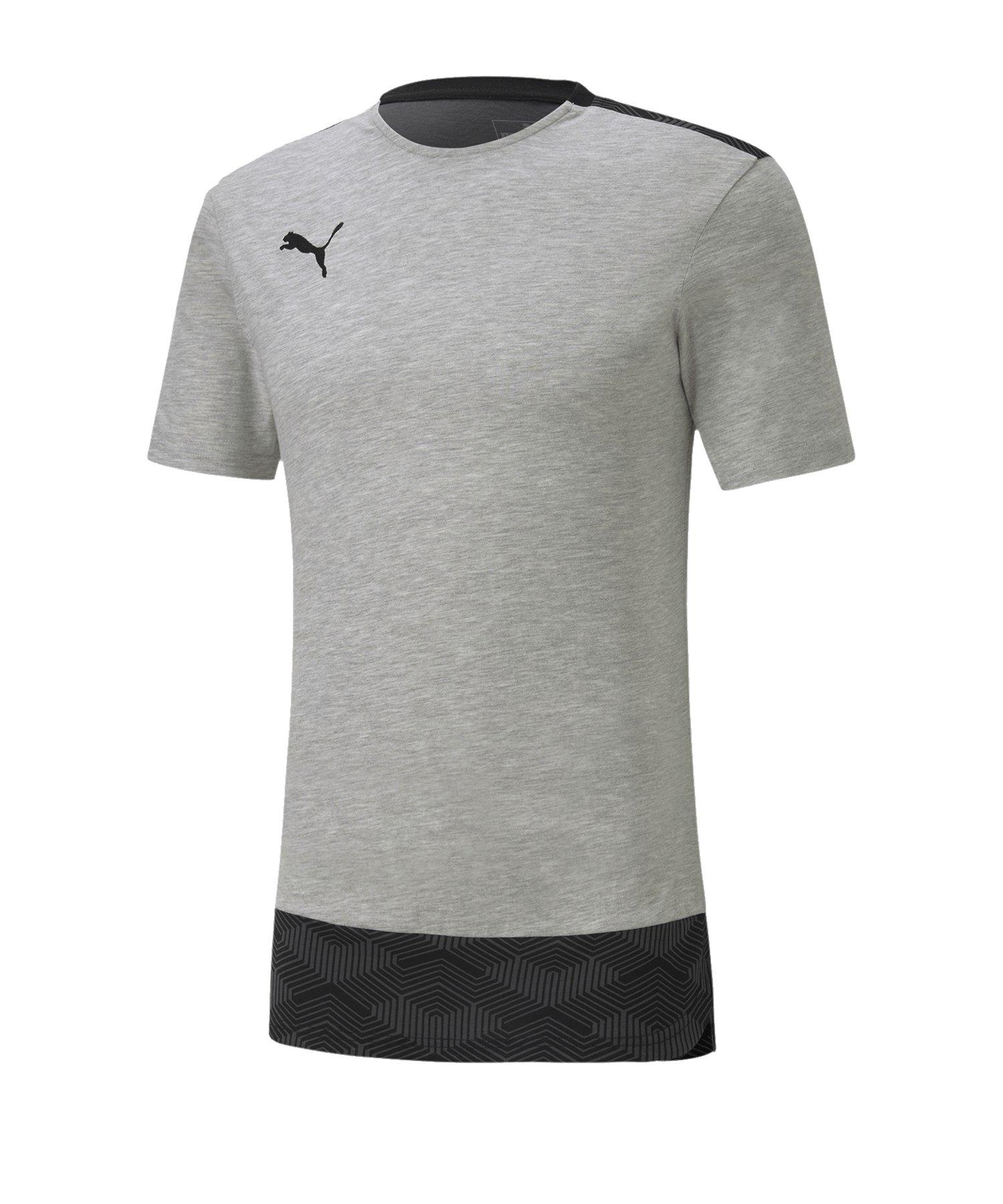 PUMA teamFINAL 21 Casuals Tee T-Shirt Grau F37 - grau