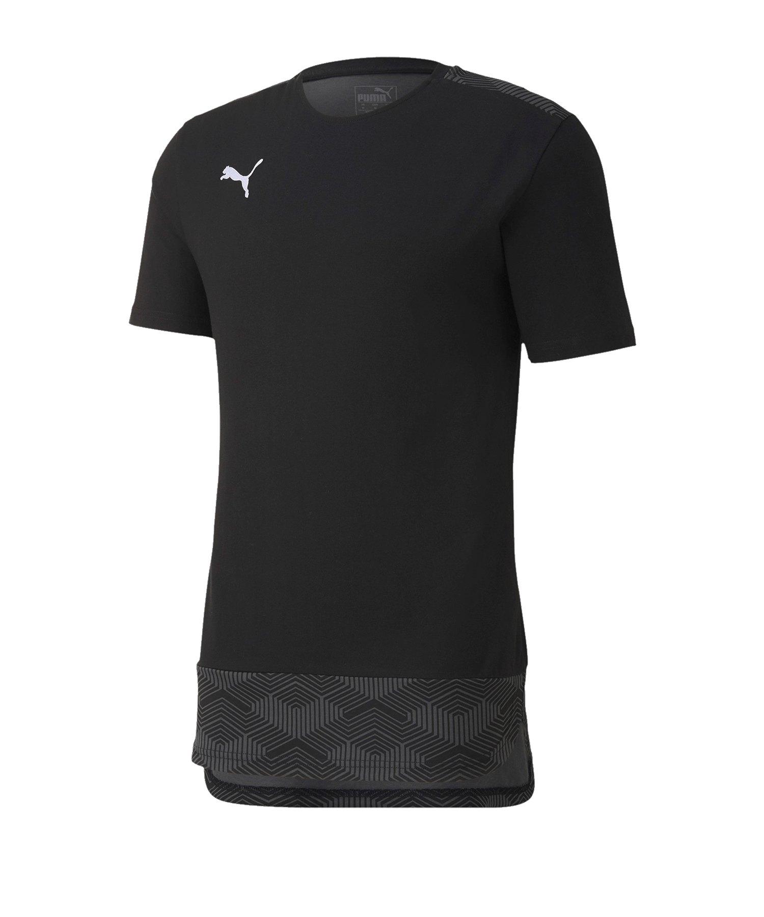 PUMA teamFINAL 21 Casuals Tee T-Shirt Schwarz F03 - schwarz