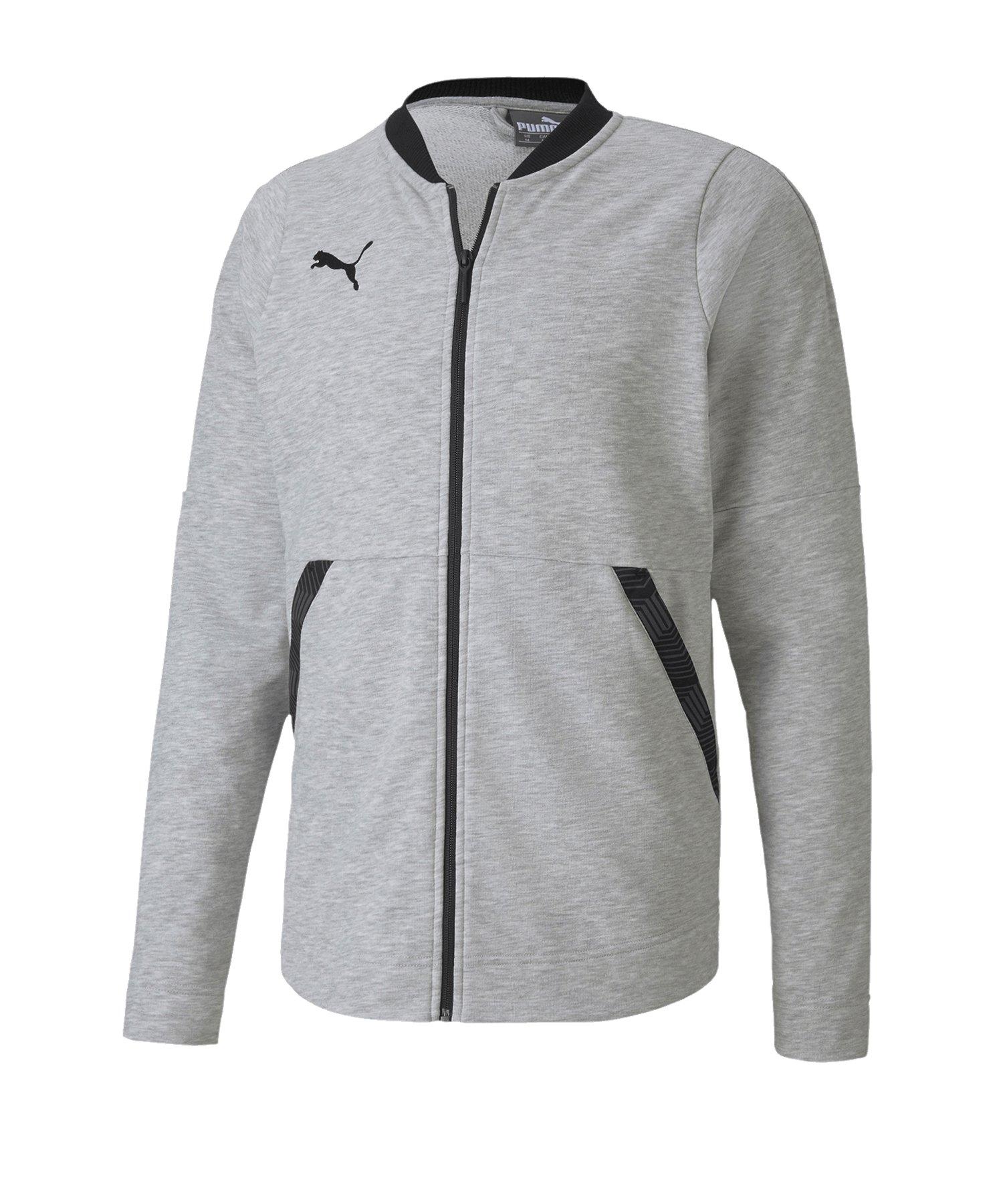 Puma teamFINAL 21 Casuals Jacket Jacke Grau F37 - grau