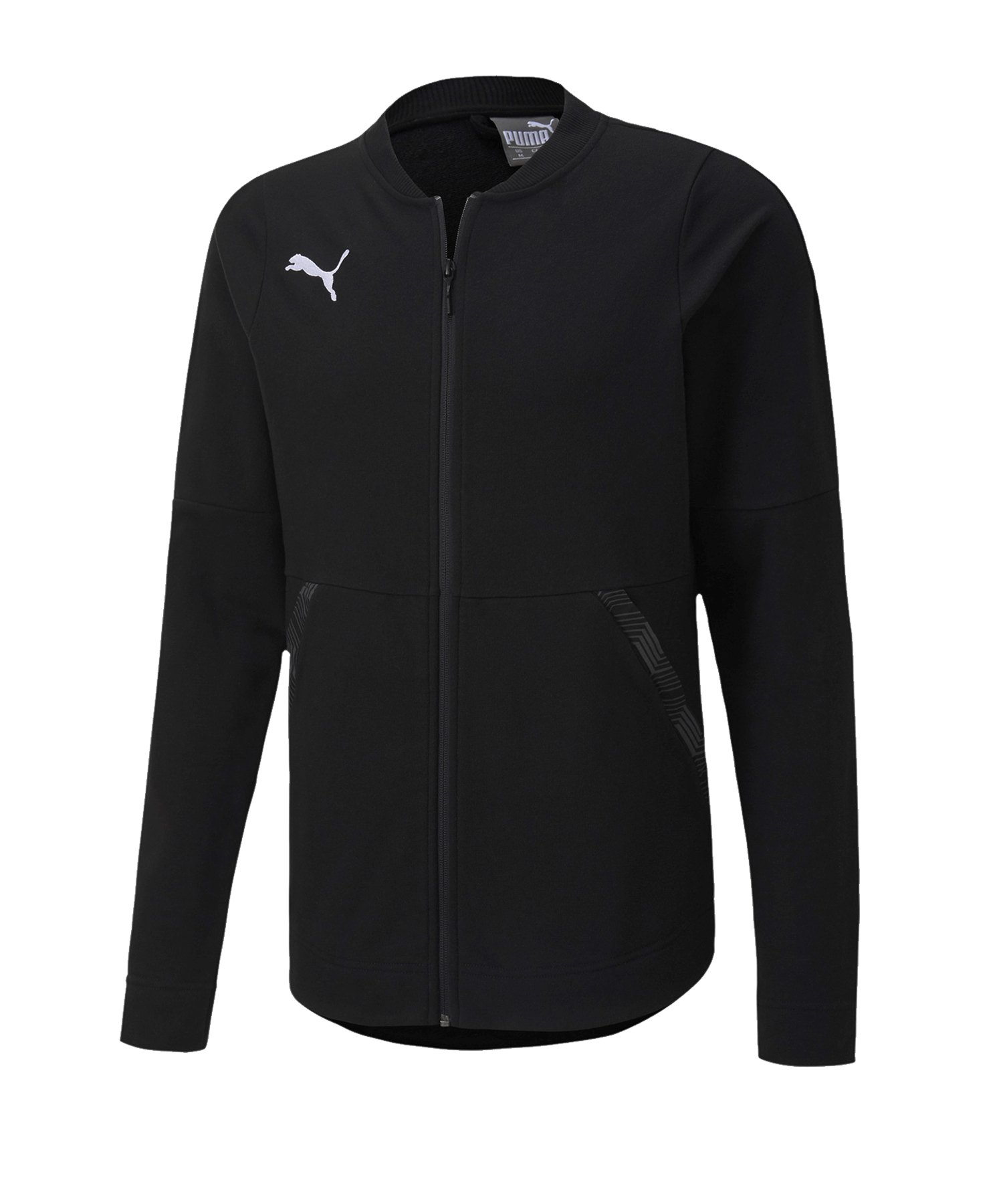 PUMA teamFINAL 21 Casuals Jacket Jacke Schwarz F03 - schwarz