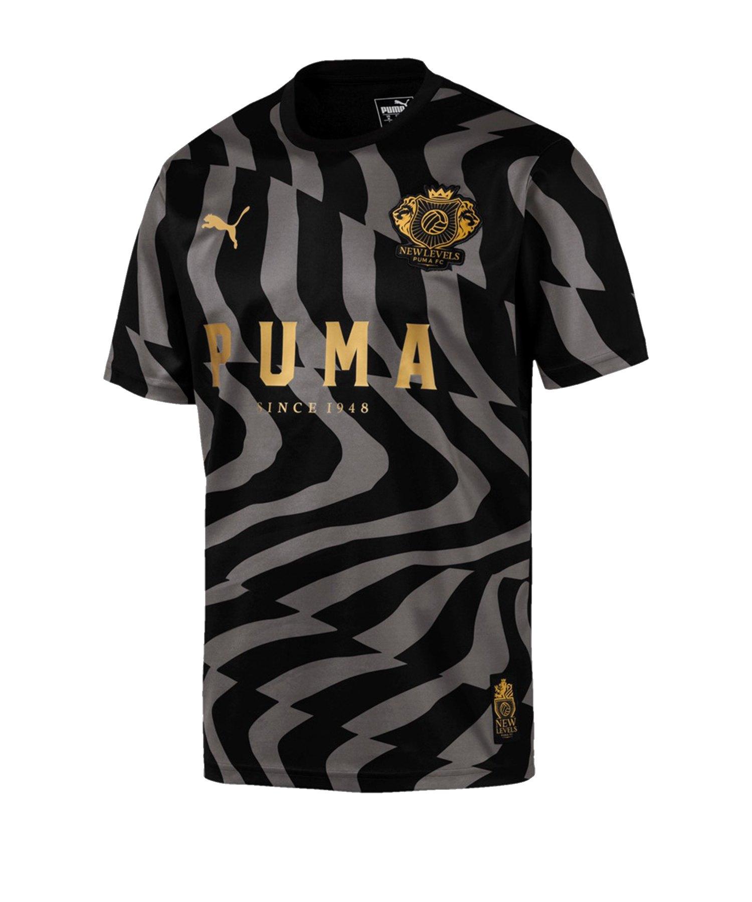 PUMA Psychedelic Jersey T-Shirt Schwarz Grau F001 - schwarz