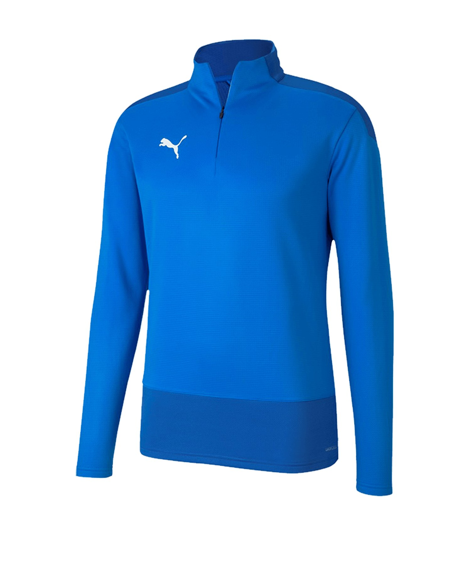 PUMA teamGOAL 23 Training 1/4 Zip Top Kids F02 - blau