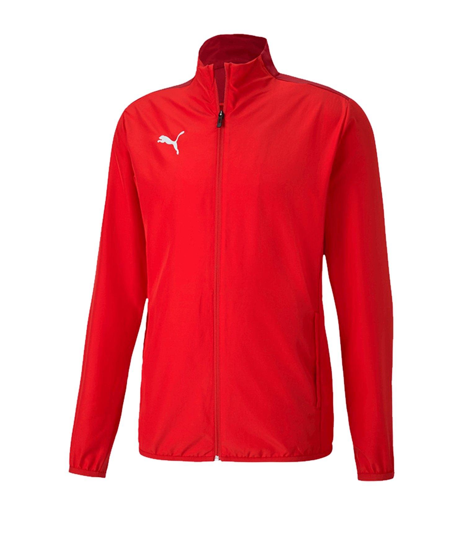 PUMA teamGOAL 23 Sideline Trainingsjacke Rot F01 - rot