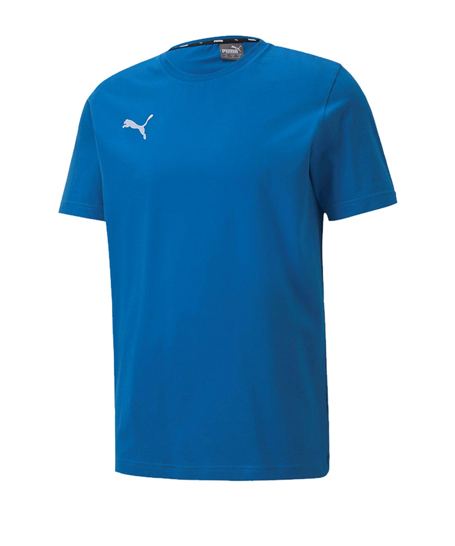 PUMA teamGOAL 23 Casuals Tee T-Shirt Blau F02 - blau