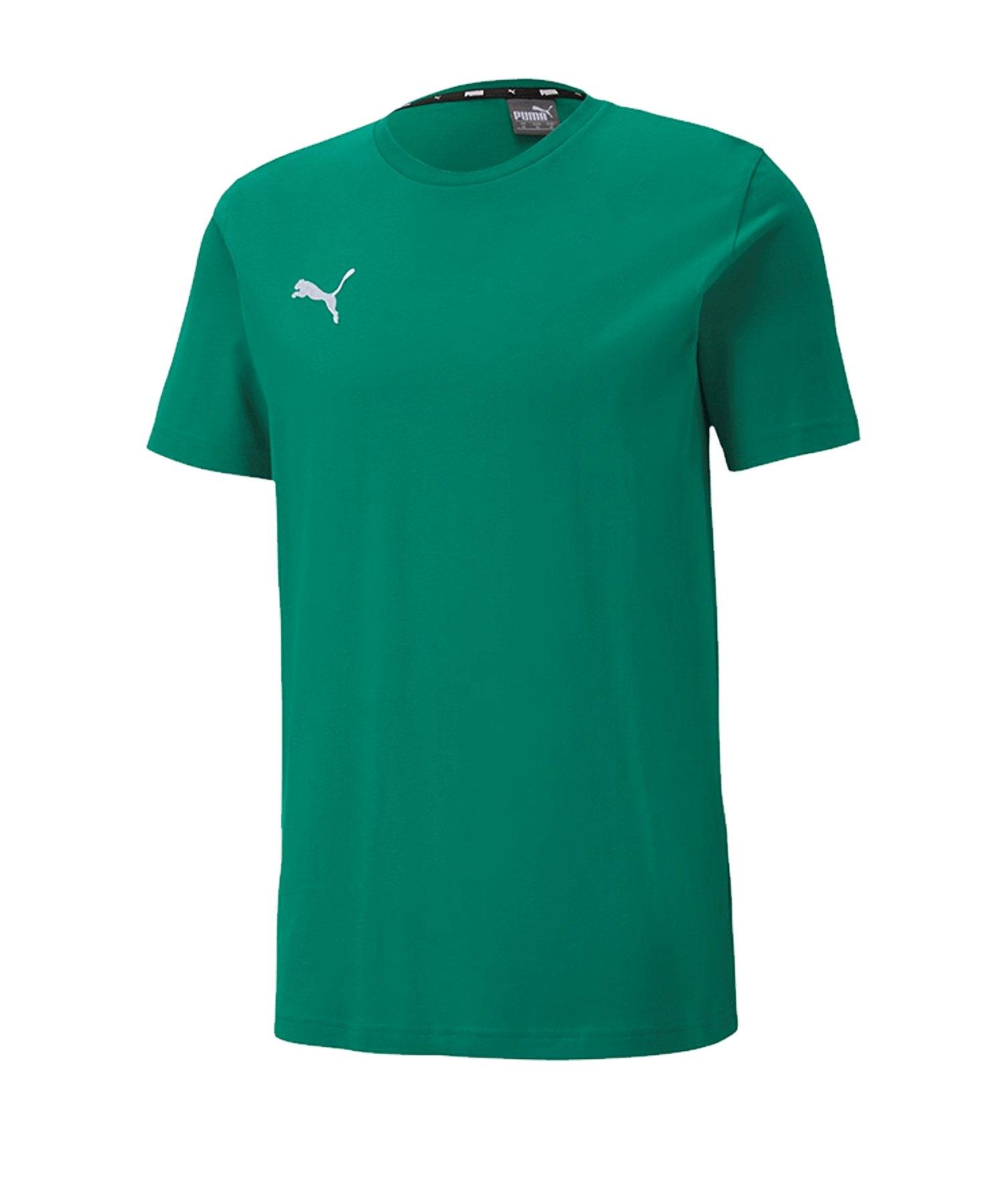 PUMA teamGOAL 23 Casuals Tee T-Shirt Grün F05 - Gruen