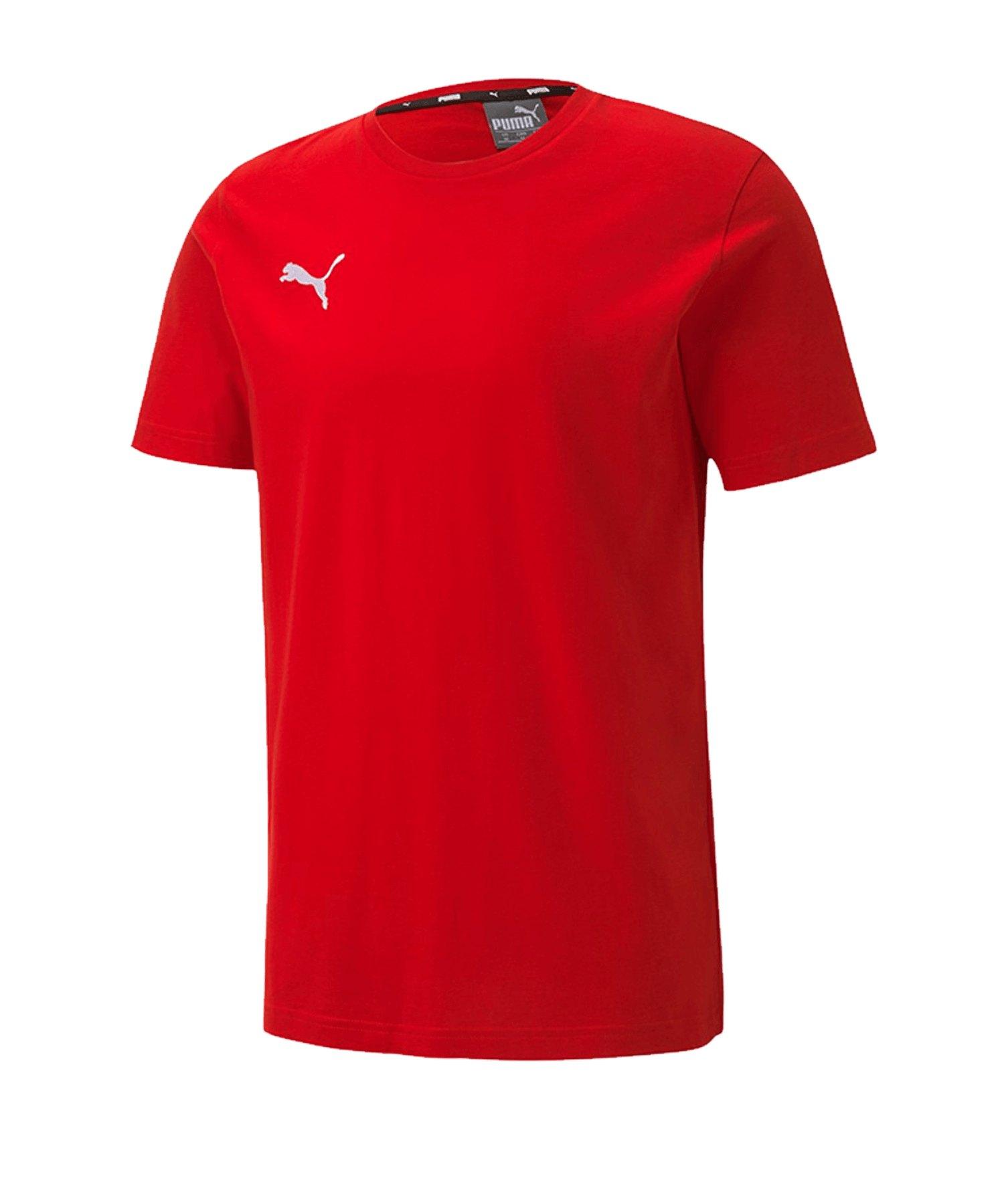 PUMA teamGOAL 23 Casuals Tee T-Shirt Rot F01 - rot