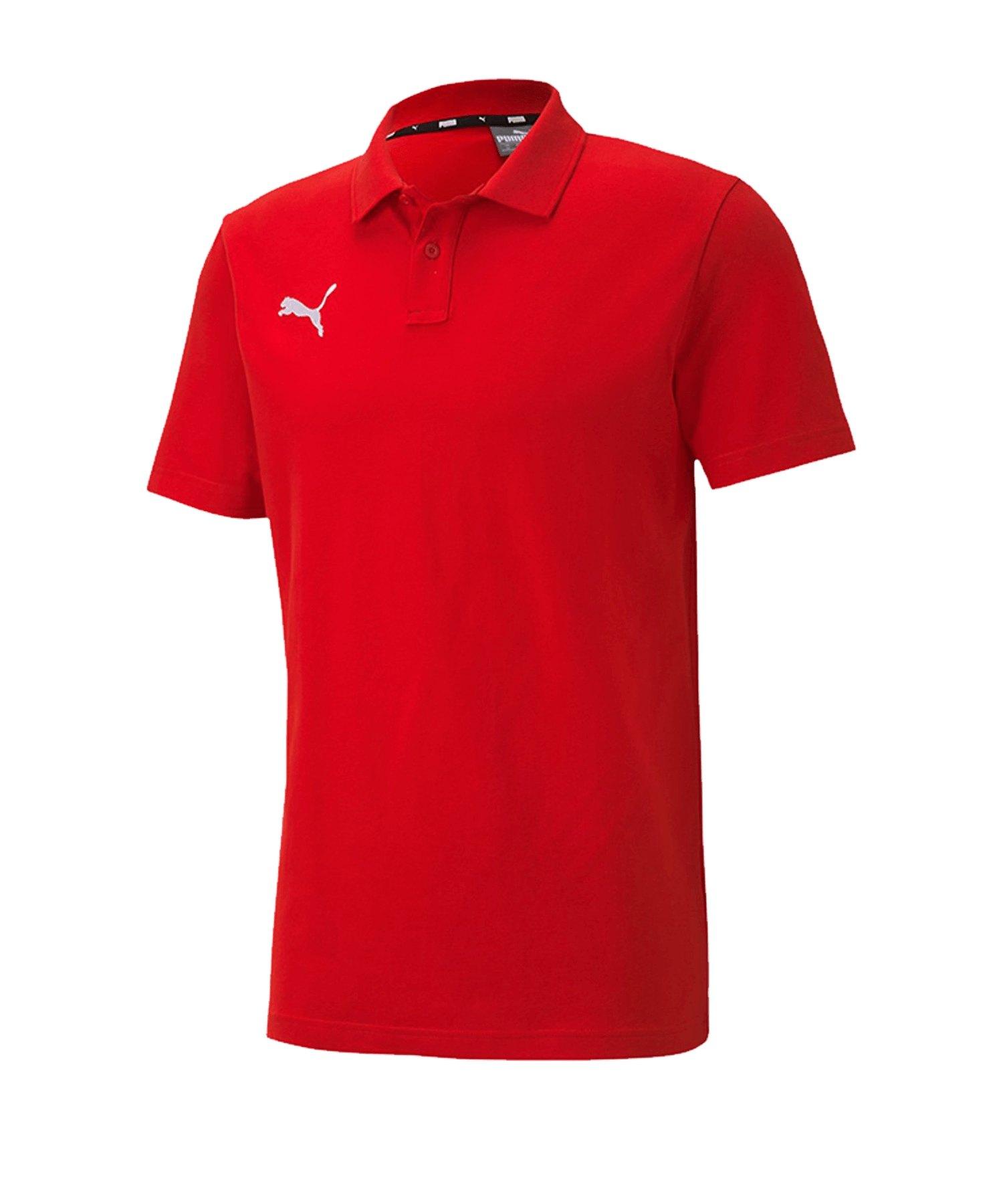 PUMA teamGOAL 23 Casuals Poloshirt Rot F01 - rot