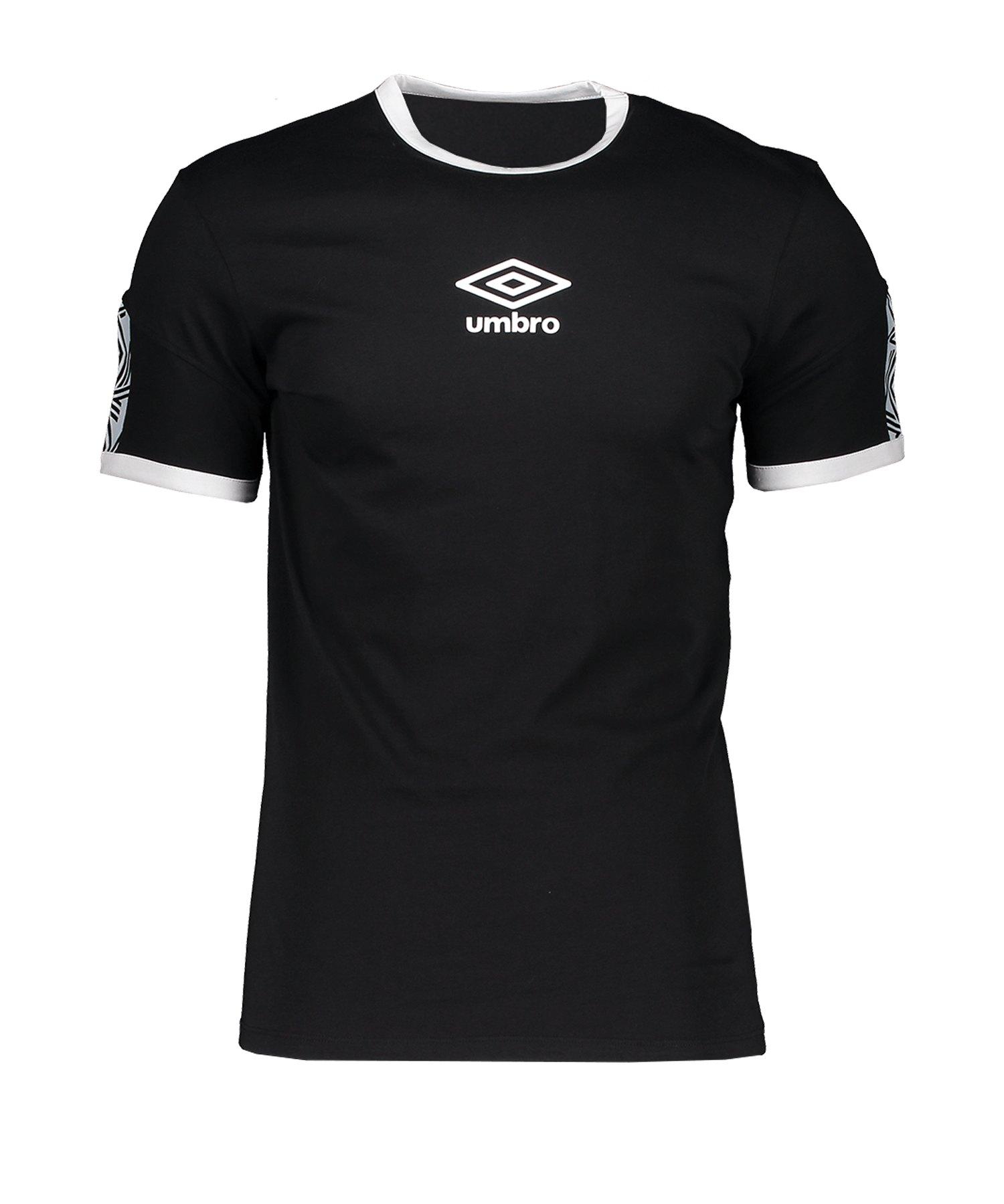 Umbro Ringer Taped Logo Tee T-Shirt Schwarz FL3 - schwarz