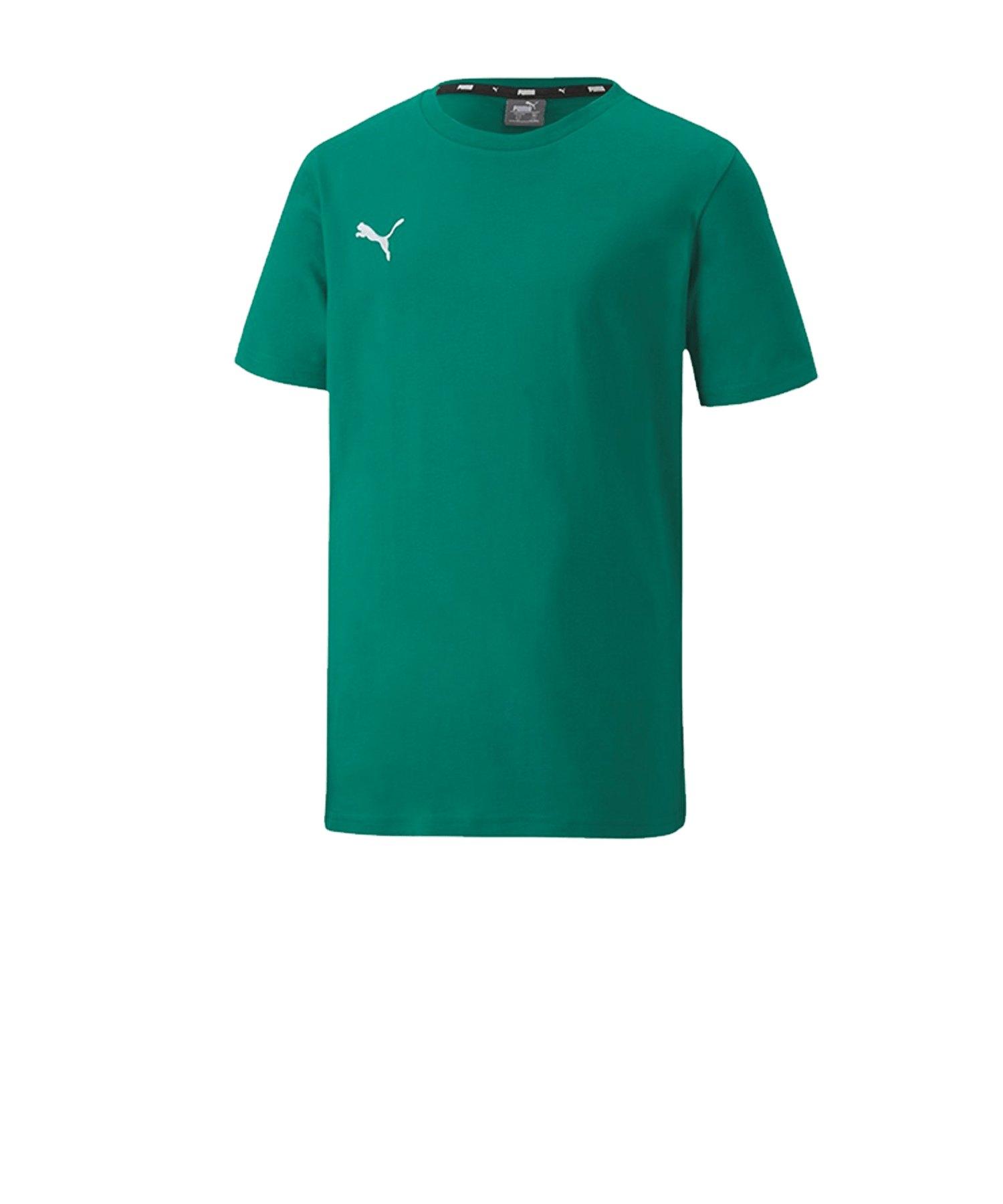 PUMA teamGOAL 23 Casuals Tee T-Shirt Kids Grün F05 - Gruen