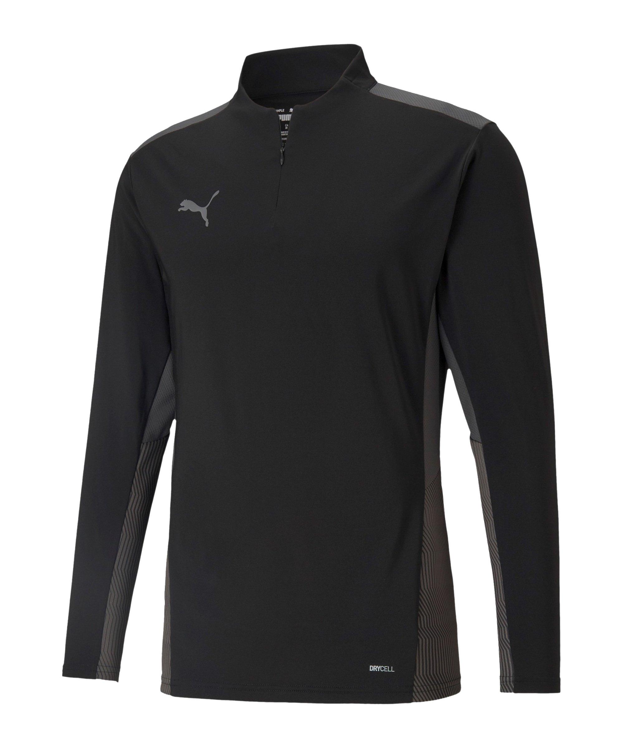 PUMA teamCUP HalfZip Sweatshirt Schwarz F03 - schwarz