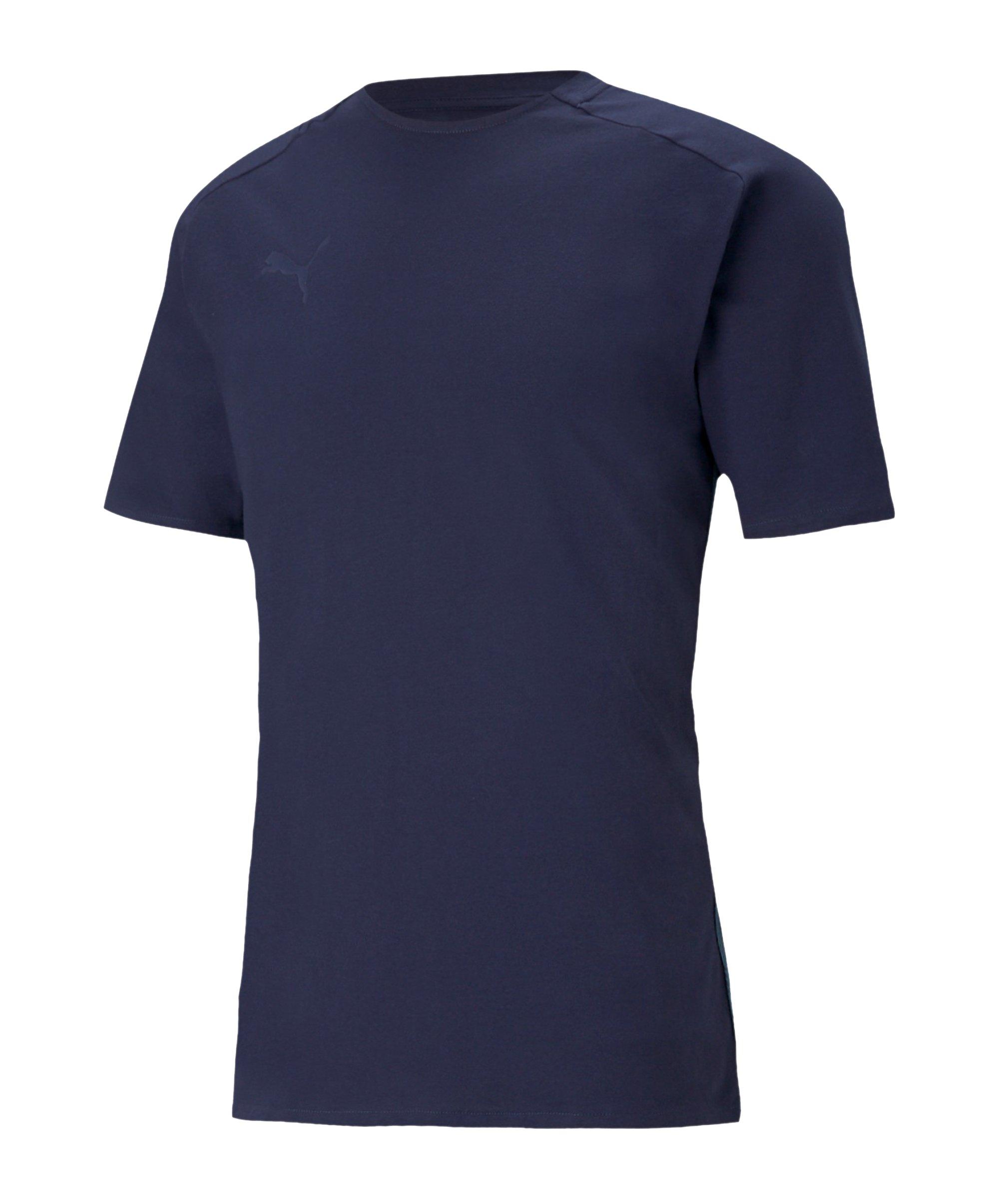 PUMA teamCUP Casuals T-Shirt Blau F02 - blau