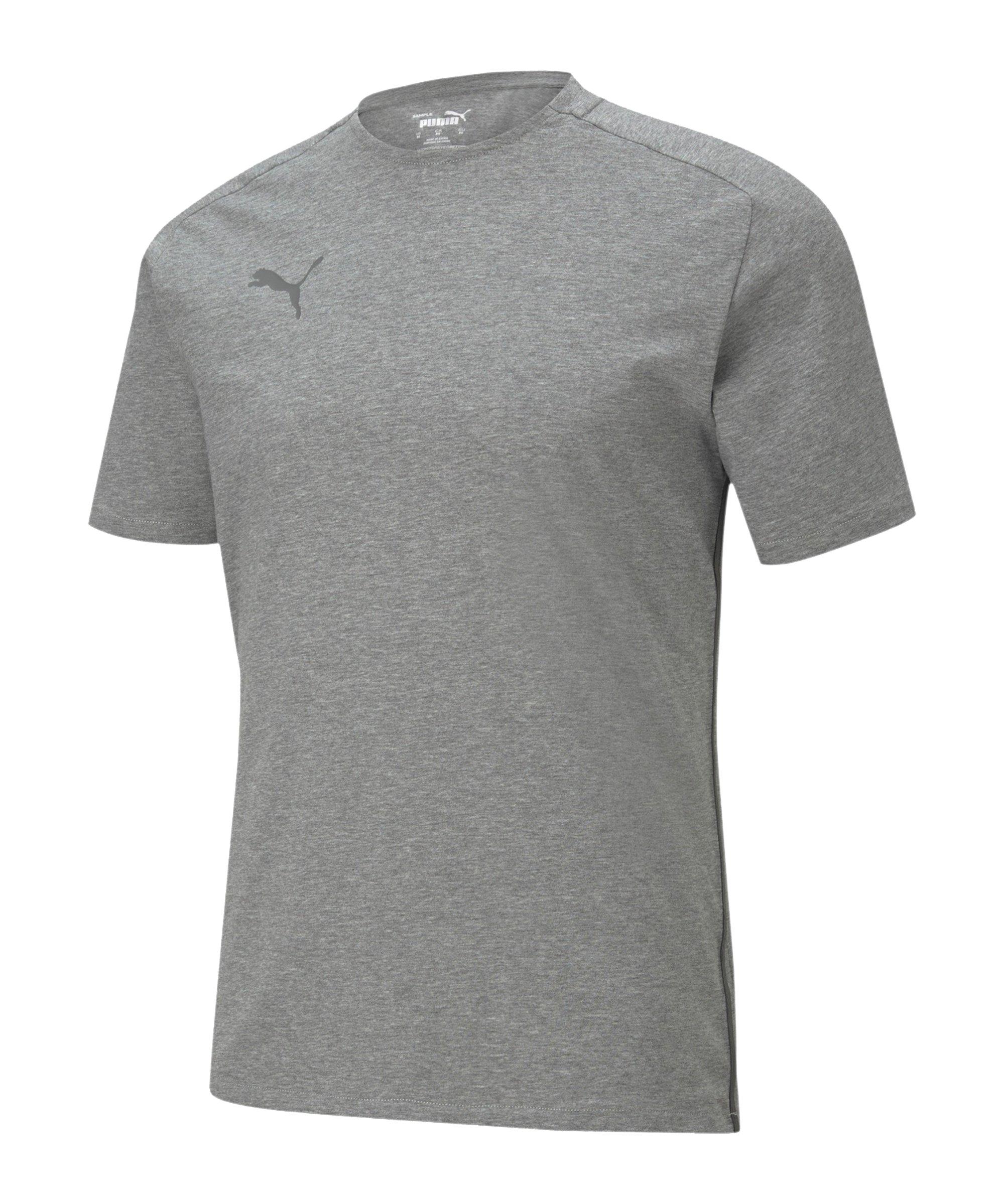 PUMA teamCUP Casuals T-Shirt Grau F33 - grau