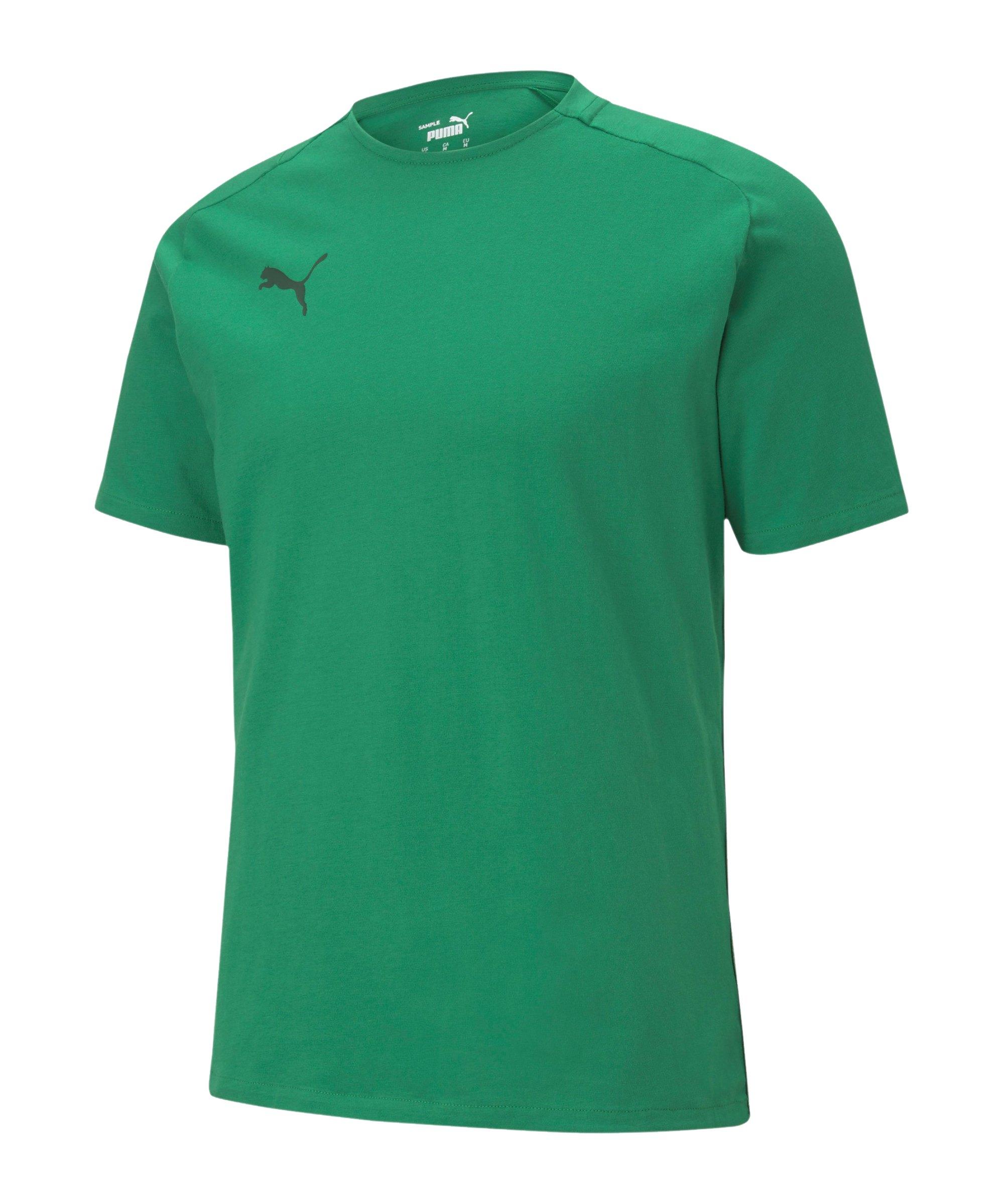 PUMA teamCUP Casuals T-Shirt Grün F05 - gruen