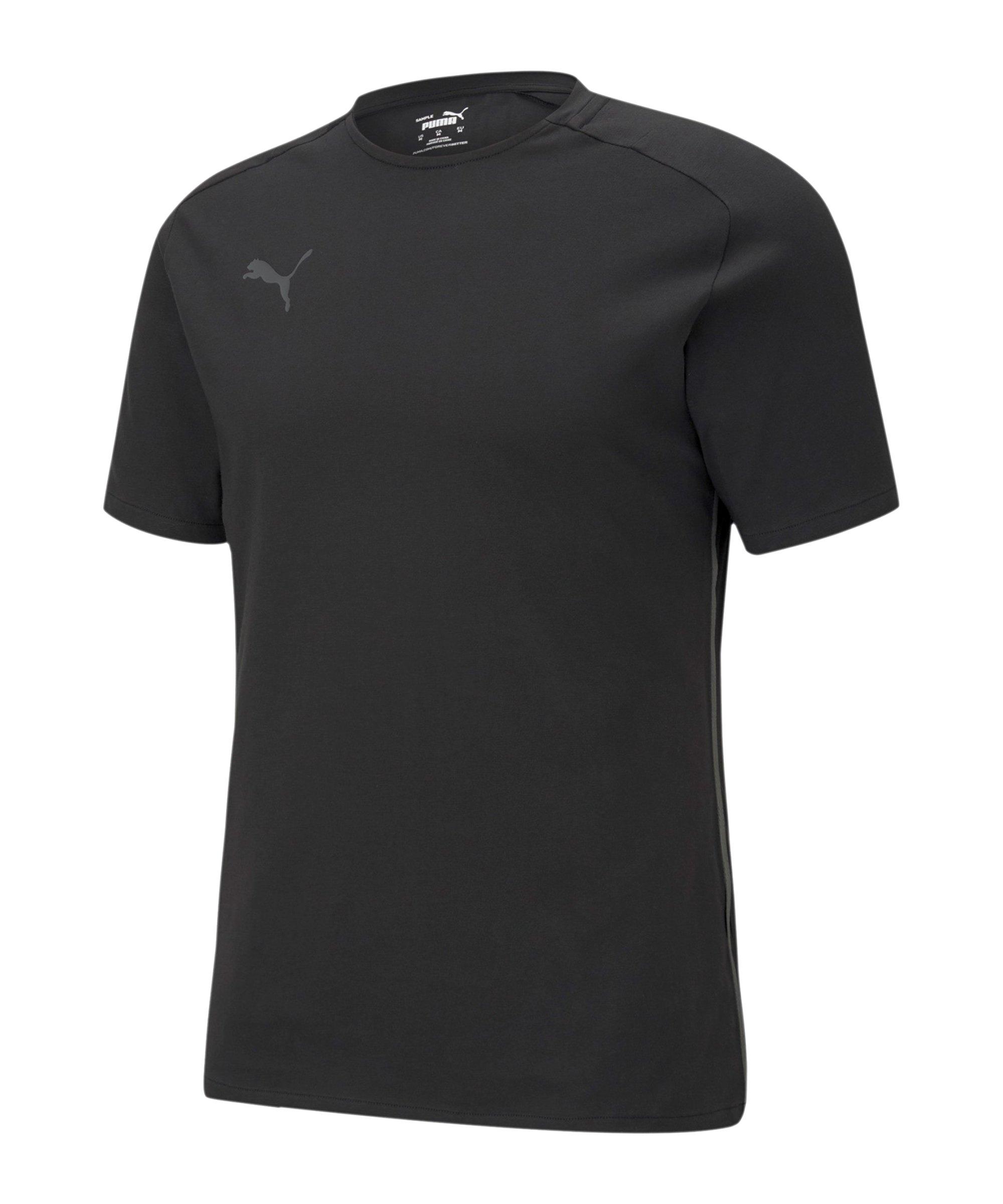 PUMA teamCUP Casuals T-Shirt Schwarz F03 - schwarz