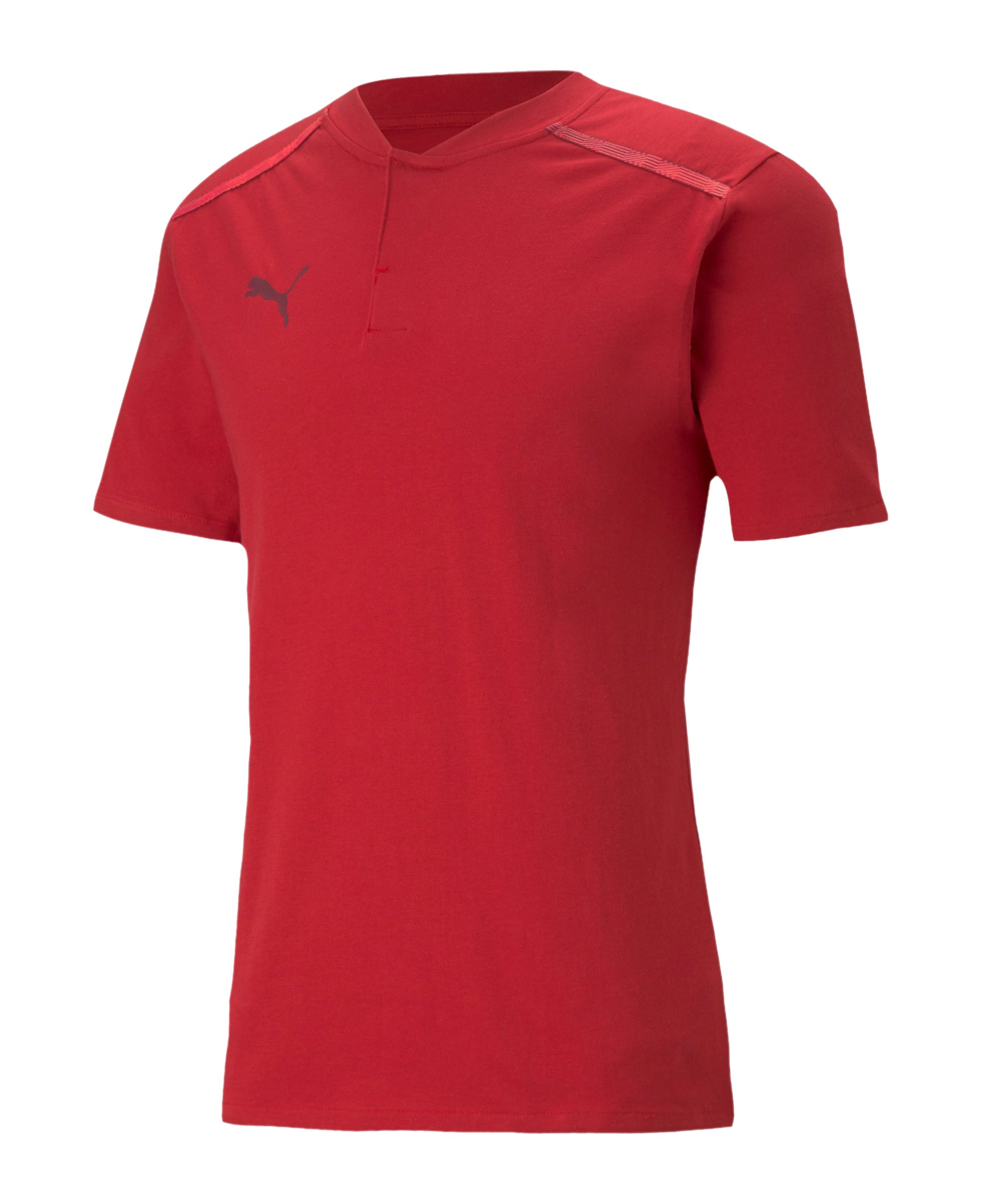 PUMA teamCUP Casuals Poloshirt Rot F01 - rot