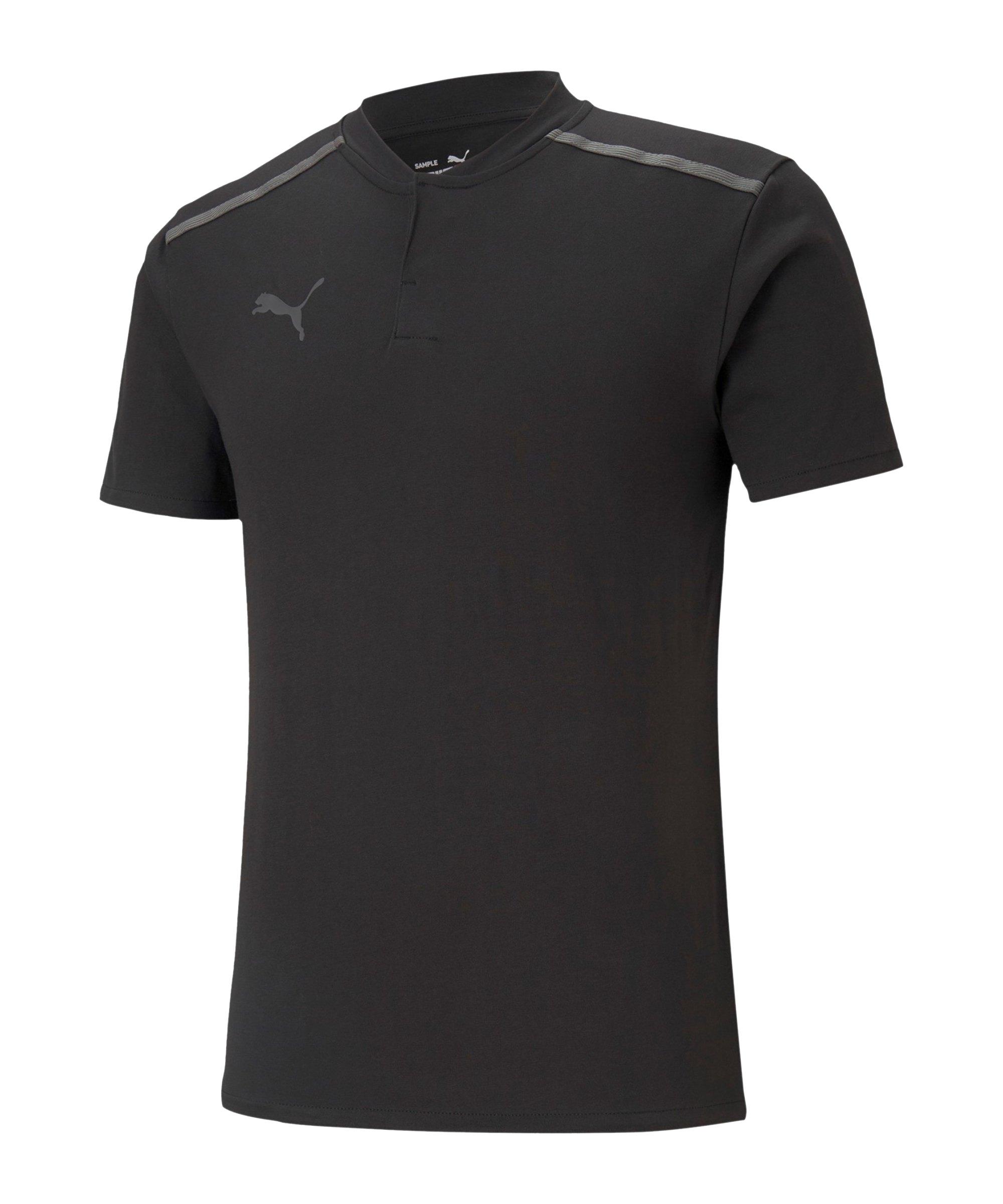 PUMA teamCUP Casuals Poloshirt Schwarz F03 - schwarz