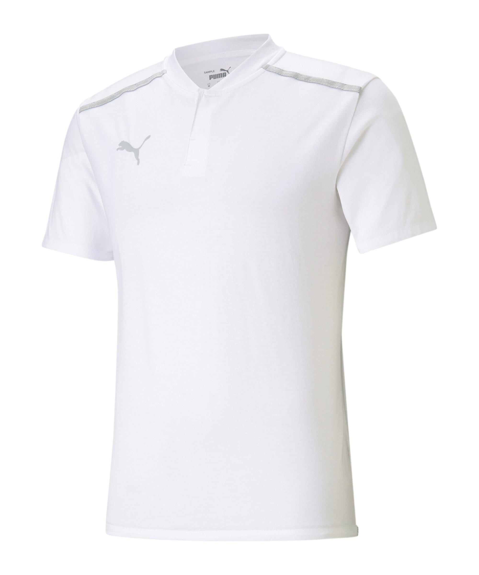 PUMA teamCUP Casuals Poloshirt Weiss F04 - weiss