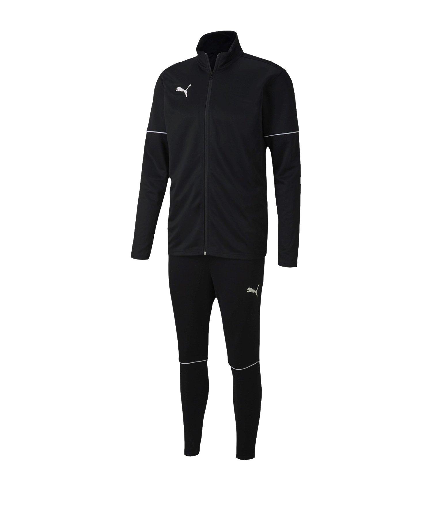PUMA teamGOAL Trainingsanzug Schwarz F03 - schwarz