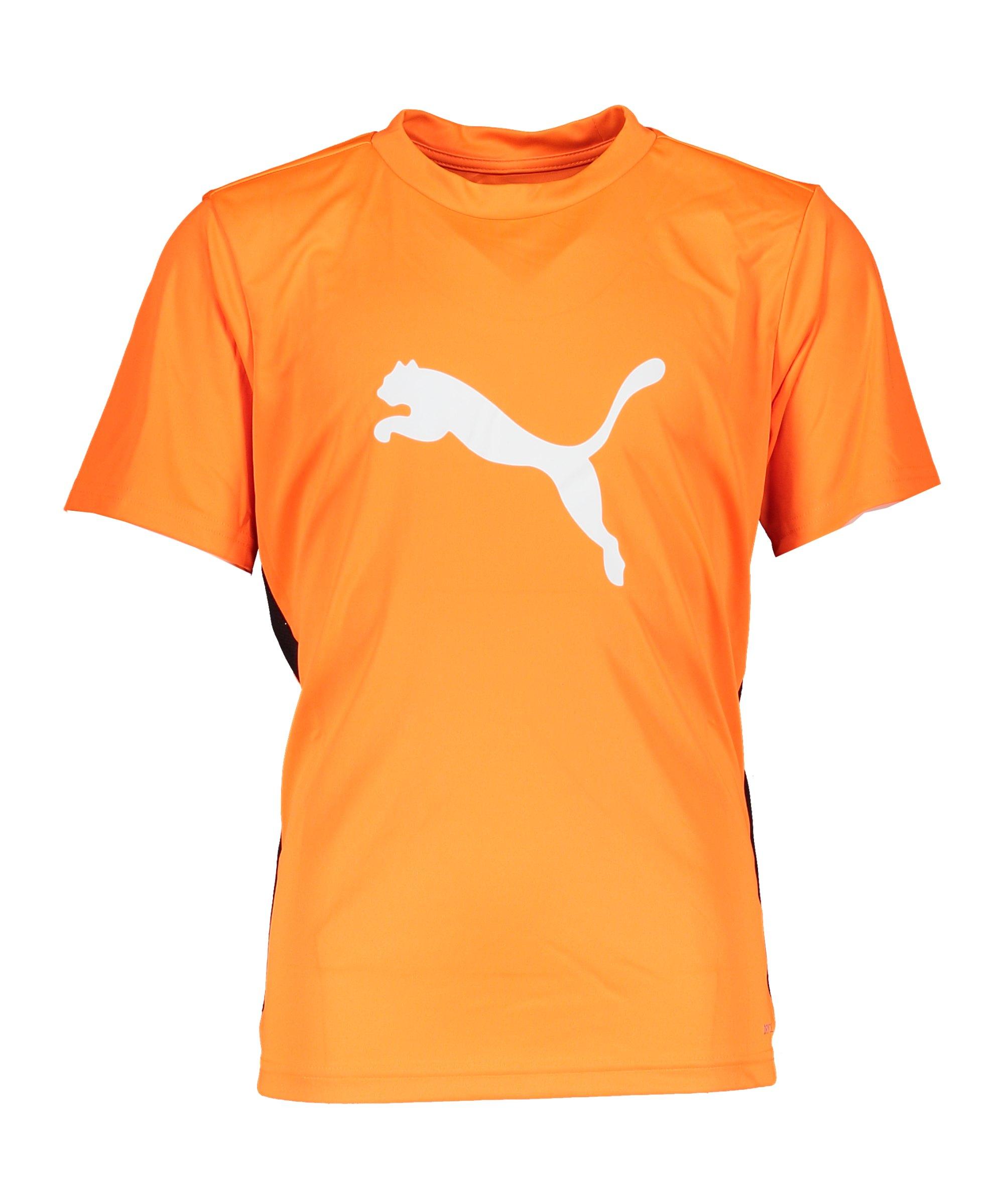 PUMA ftblPLAY Logo T-Shirt Kids Orange F20 - orange