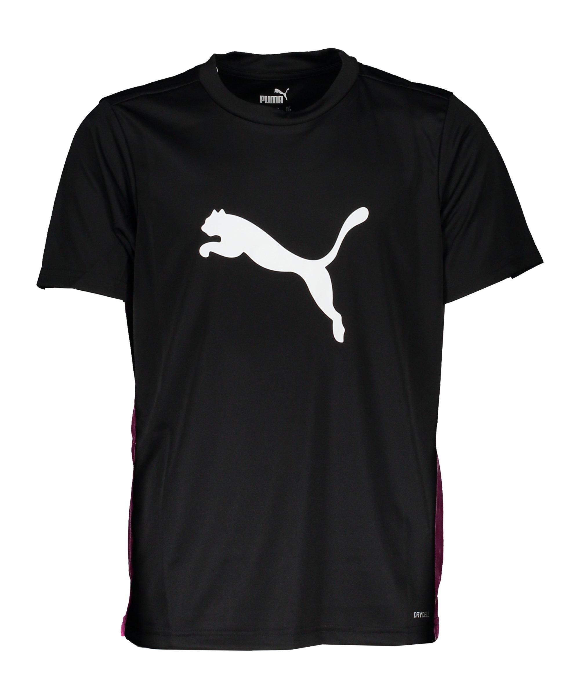 PUMA ftblPLAY Logo T-Shirt Kids Schwarz F21 - schwarz