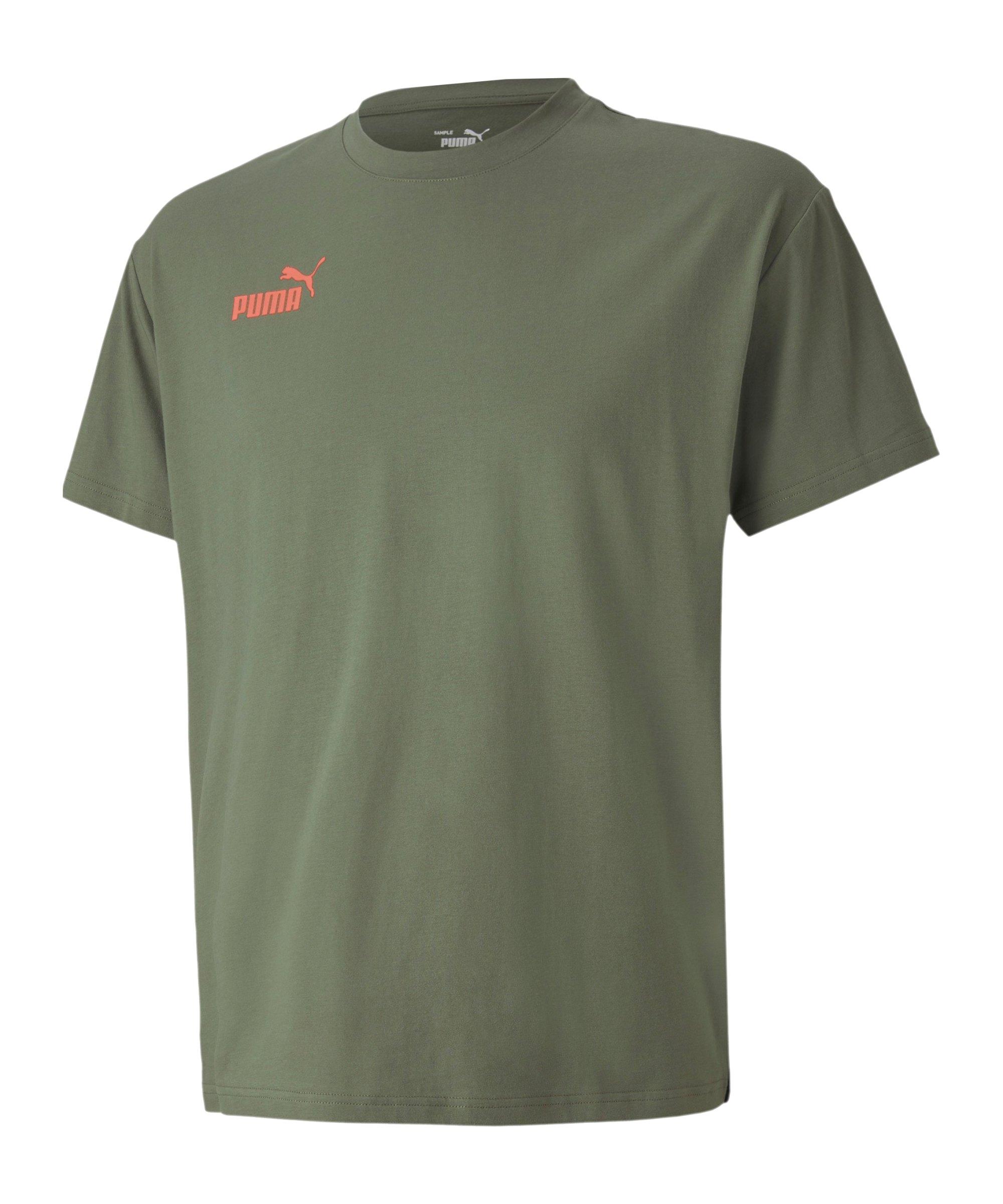 PUMA ftblNXT Casuals T-Shirt Grün F02 - gruen