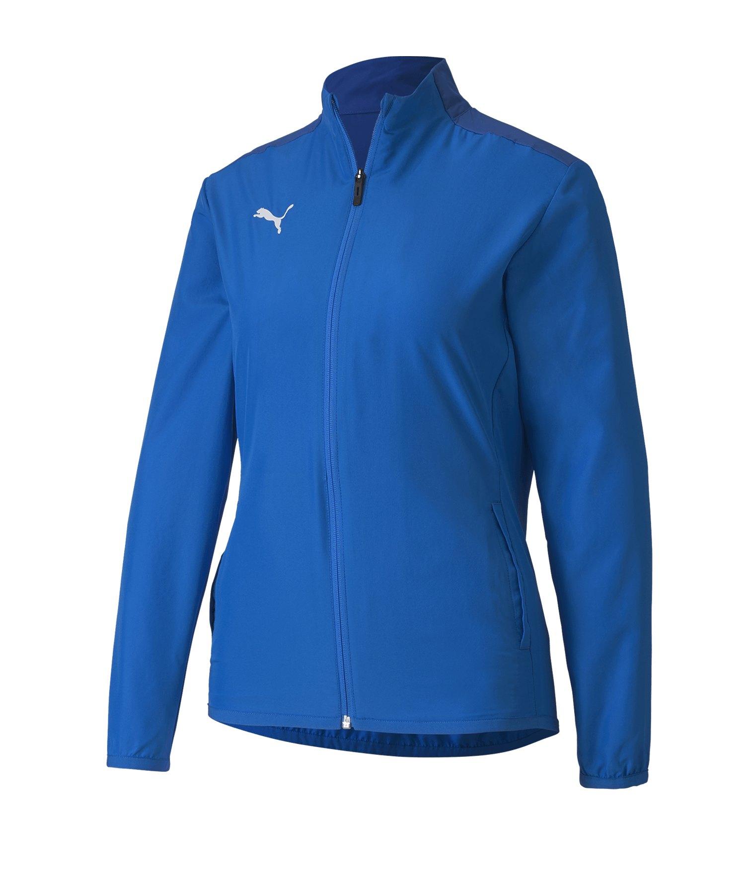 PUMA teamGOAL 23 Sideline Trainingsjacke Damen F02 - blau