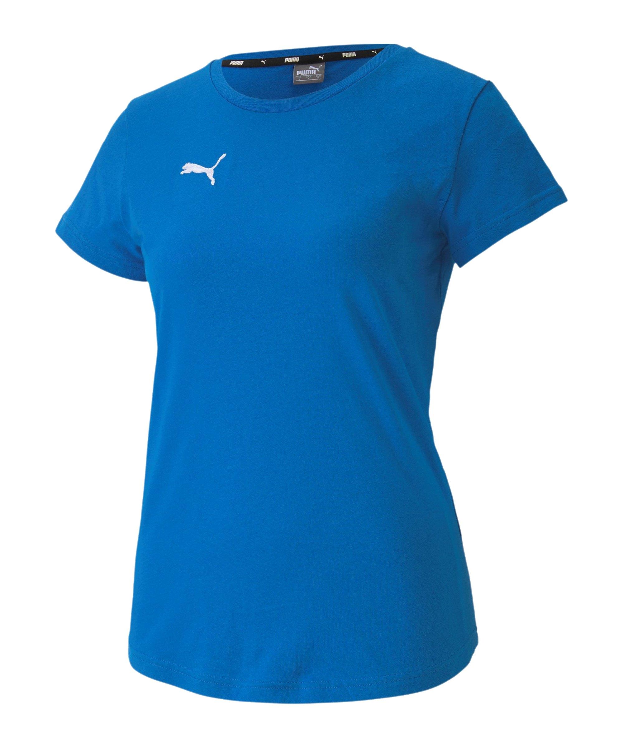 PUMA teamGOAL 23 Casuals T-Shirt Damen Blau F02 - blau