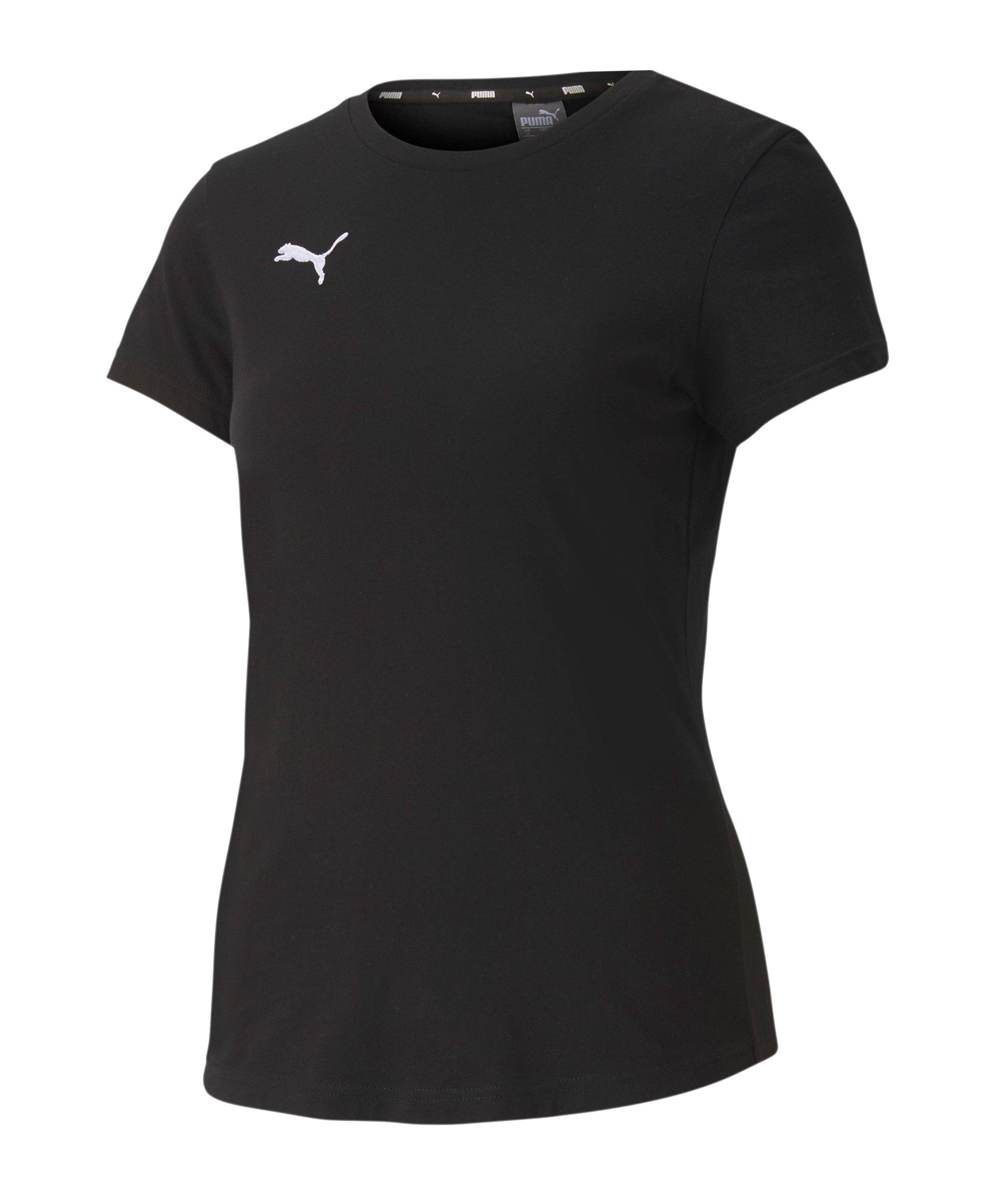 PUMA teamGOAL 23 Casuals T-Shirt Damen F03 - schwarz