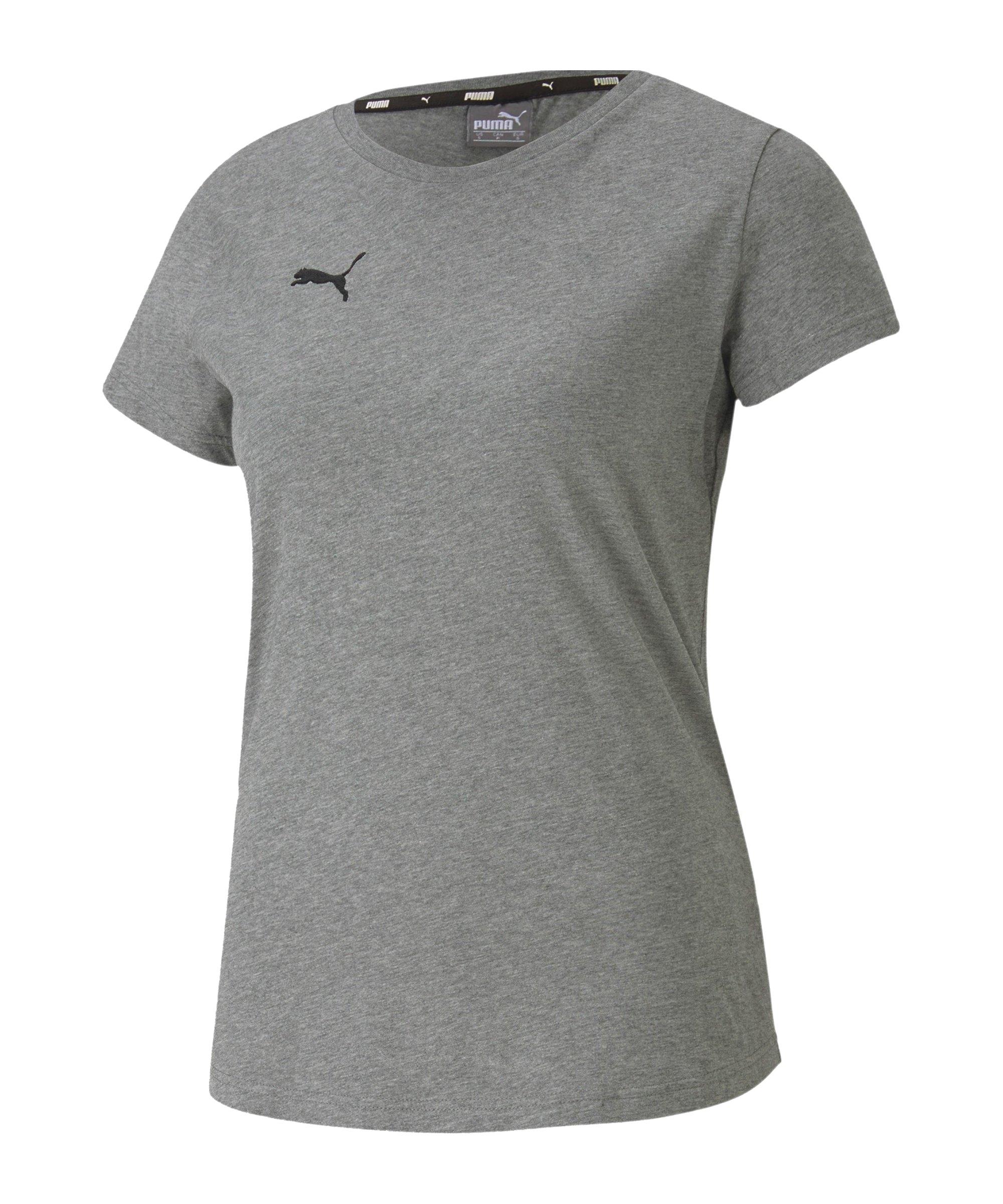 PUMA teamGOAL 23 Casuals T-Shirt Damen Grau F33 - grau