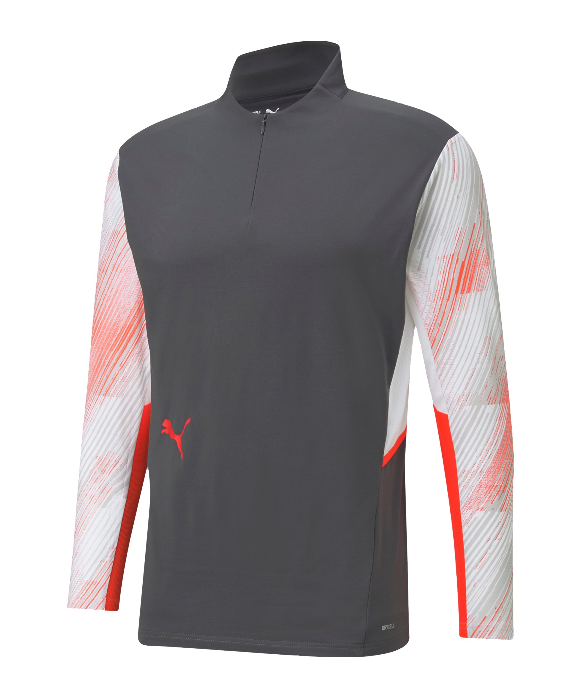 PUMA individualCUP HalfZip Sweatshirt Weiss F41 - grau