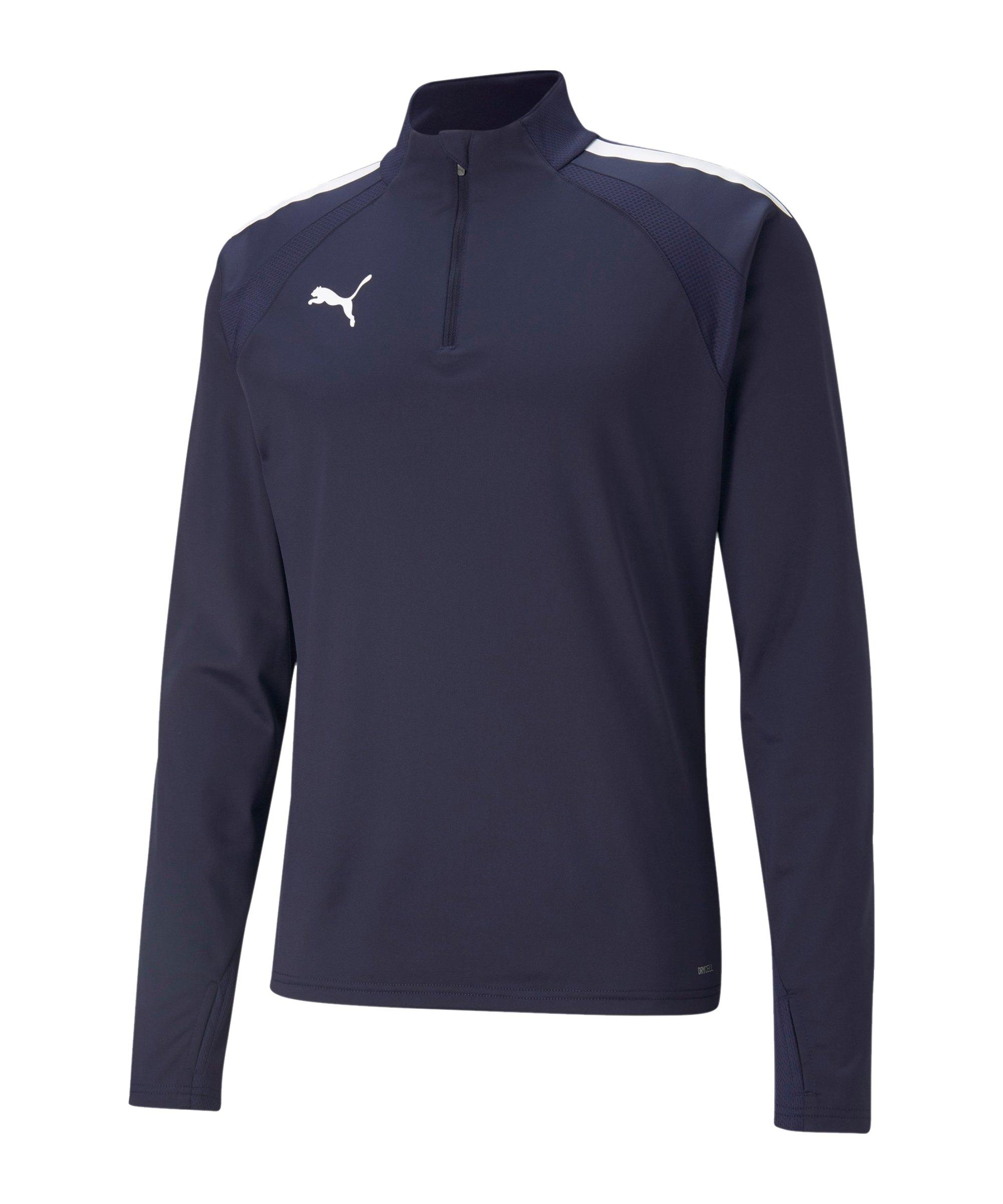 PUMA teamLIGA HalfZip Sweatshirt Blau F06 - blau