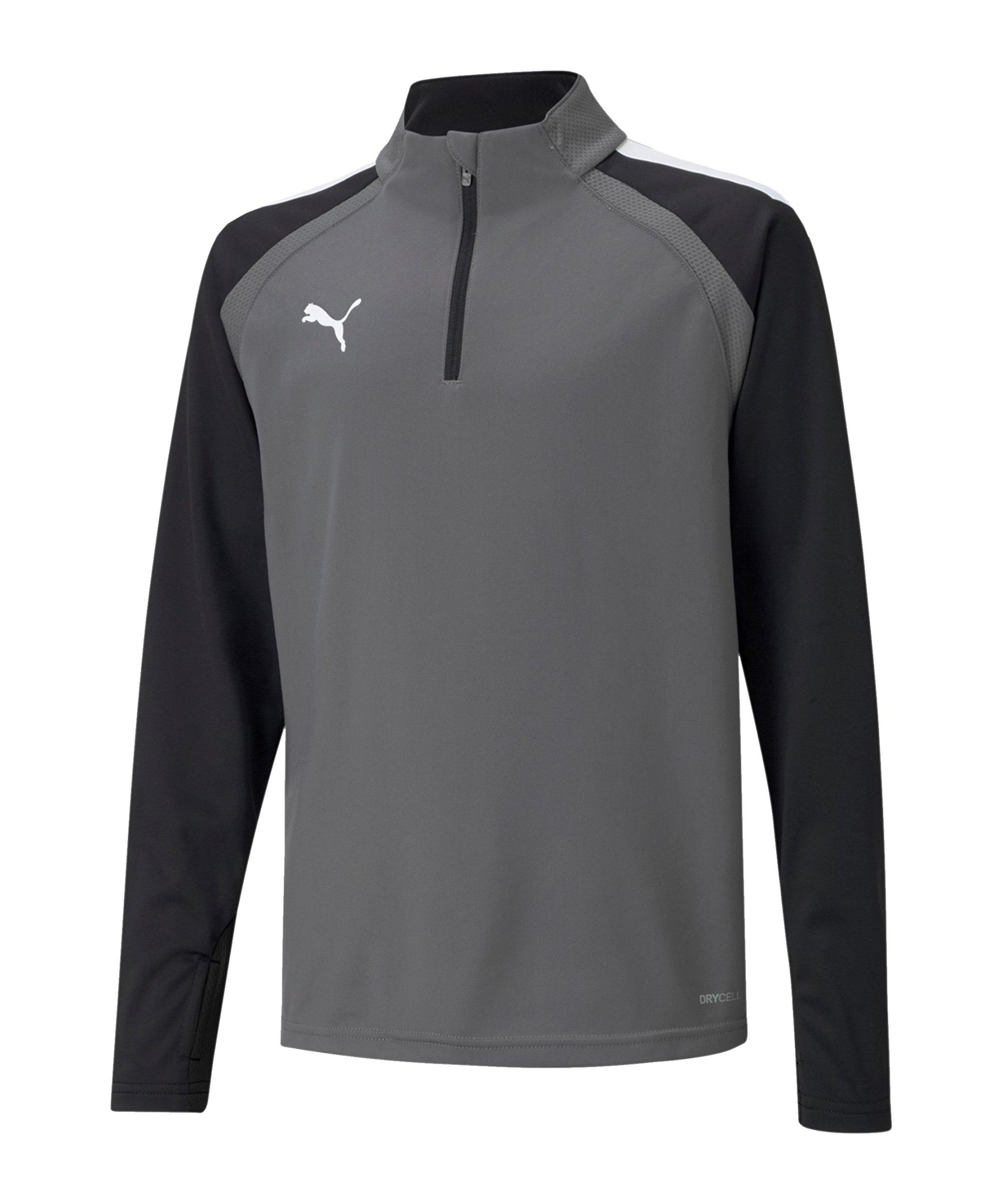 PUMA teamLIGA HalfZip Sweatshirt Kids Grau F13 - grau