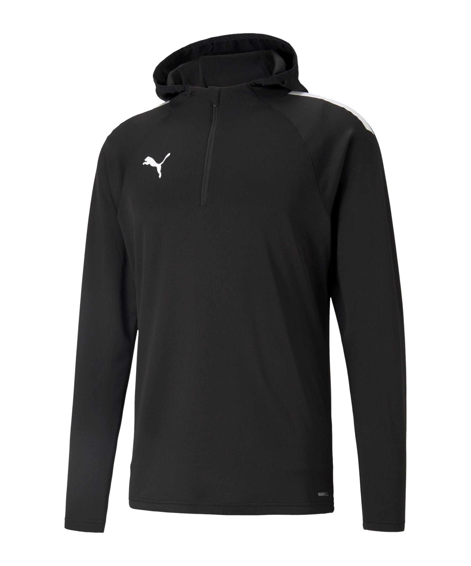 PUMA teamLIGA Fleece Sweatshirt Schwarz F03 - schwarz