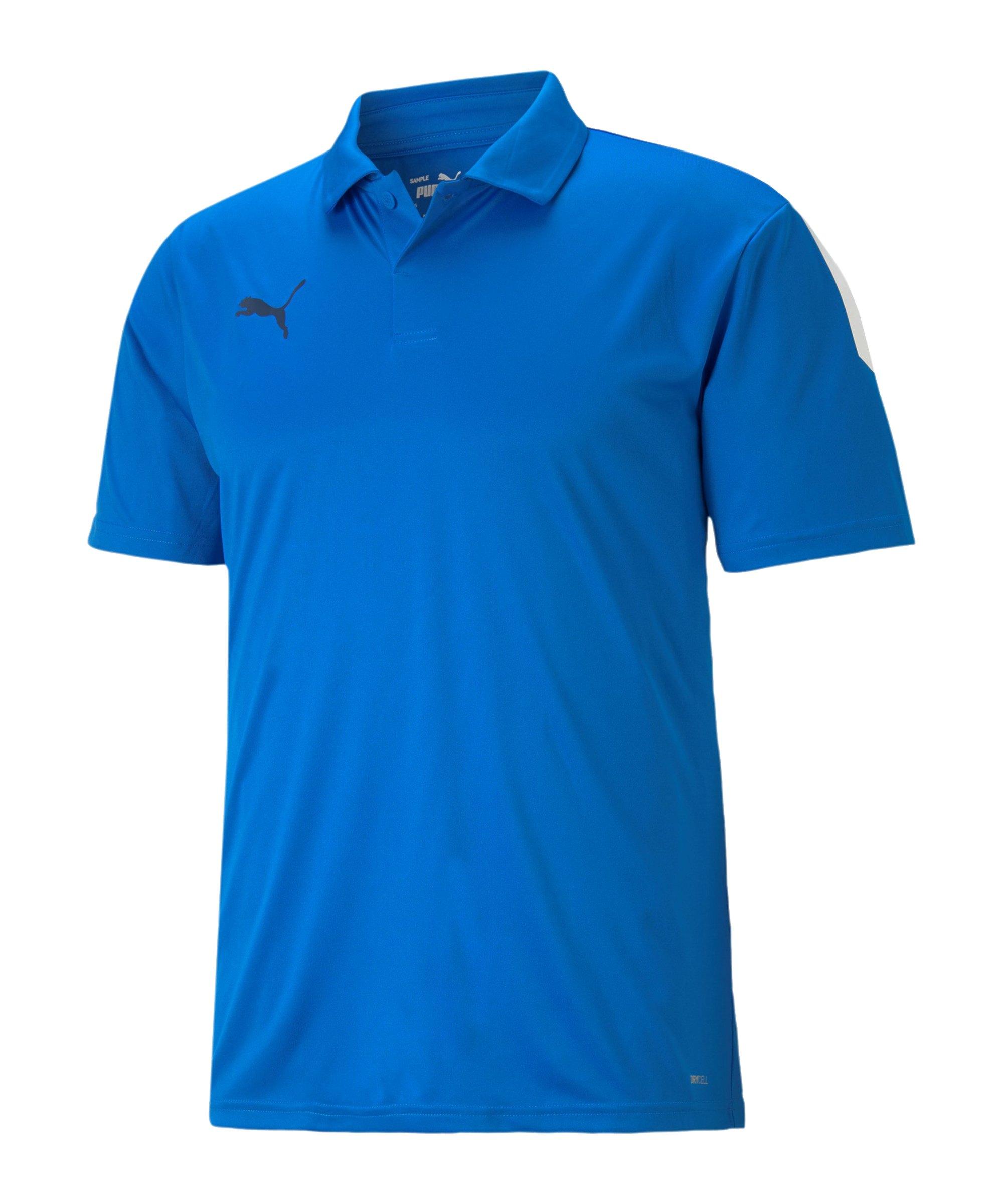 PUMA teamLIGA Sideline Polo Blau F02 - blau