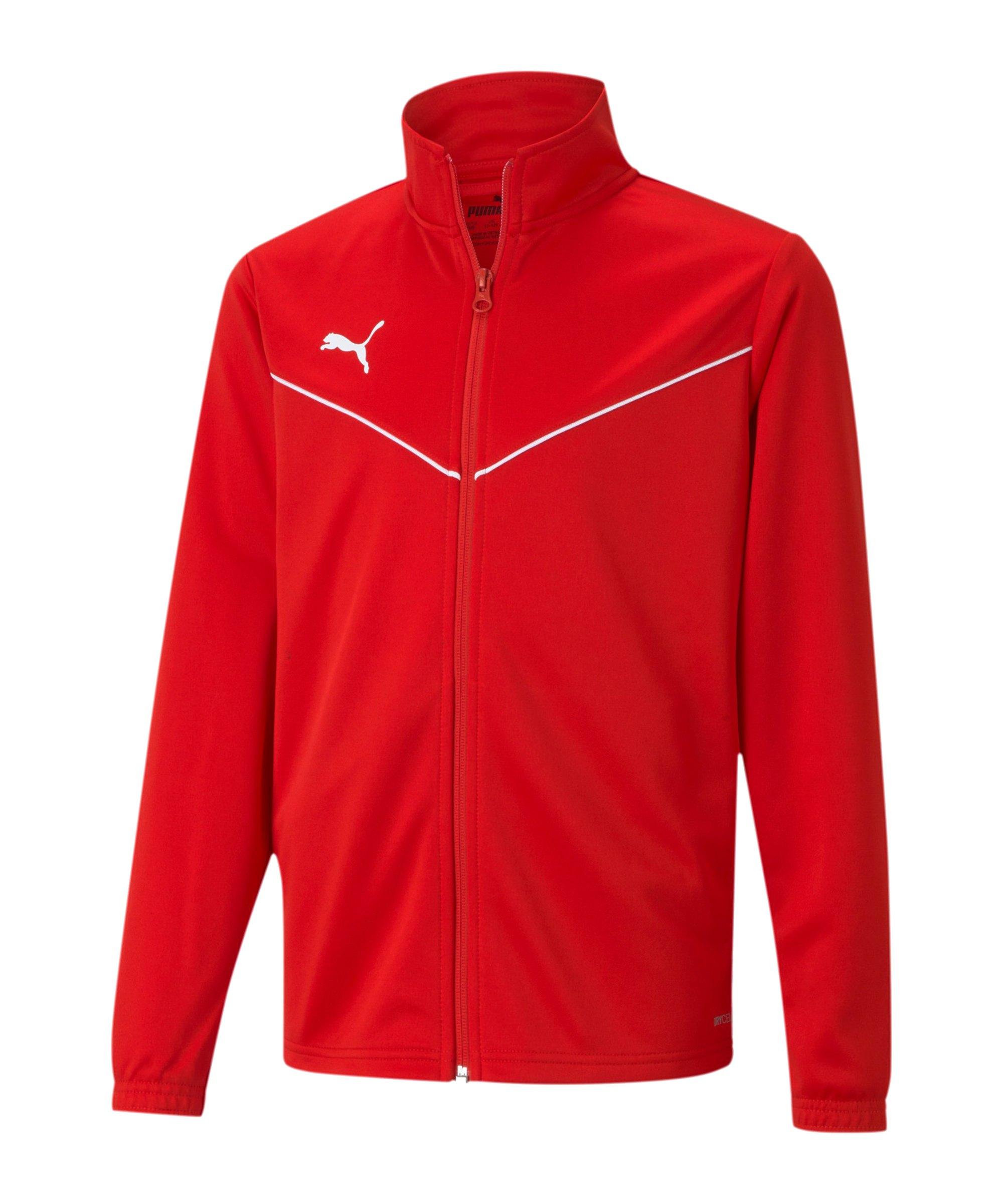 PUMA teamRISE Poly Trainingsjacke Rot F01 - rot