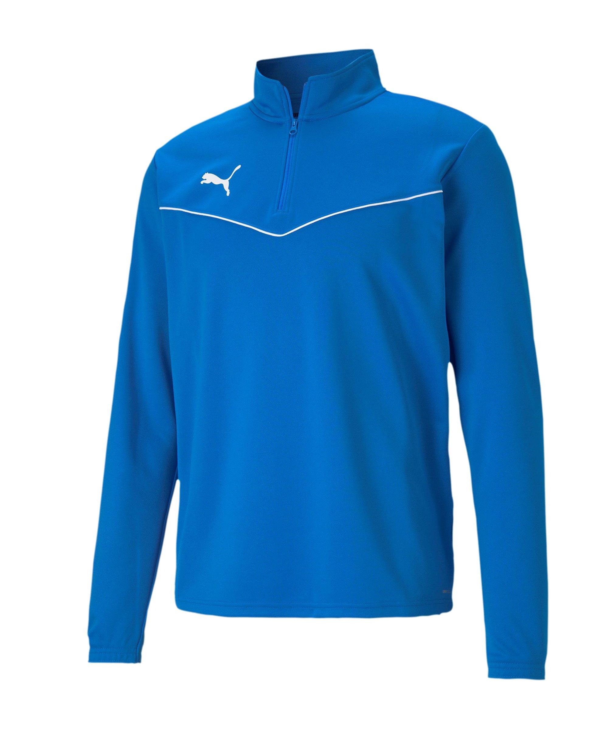 PUMA teamRISE HalfZip Sweatshirt Blau F02 - blau