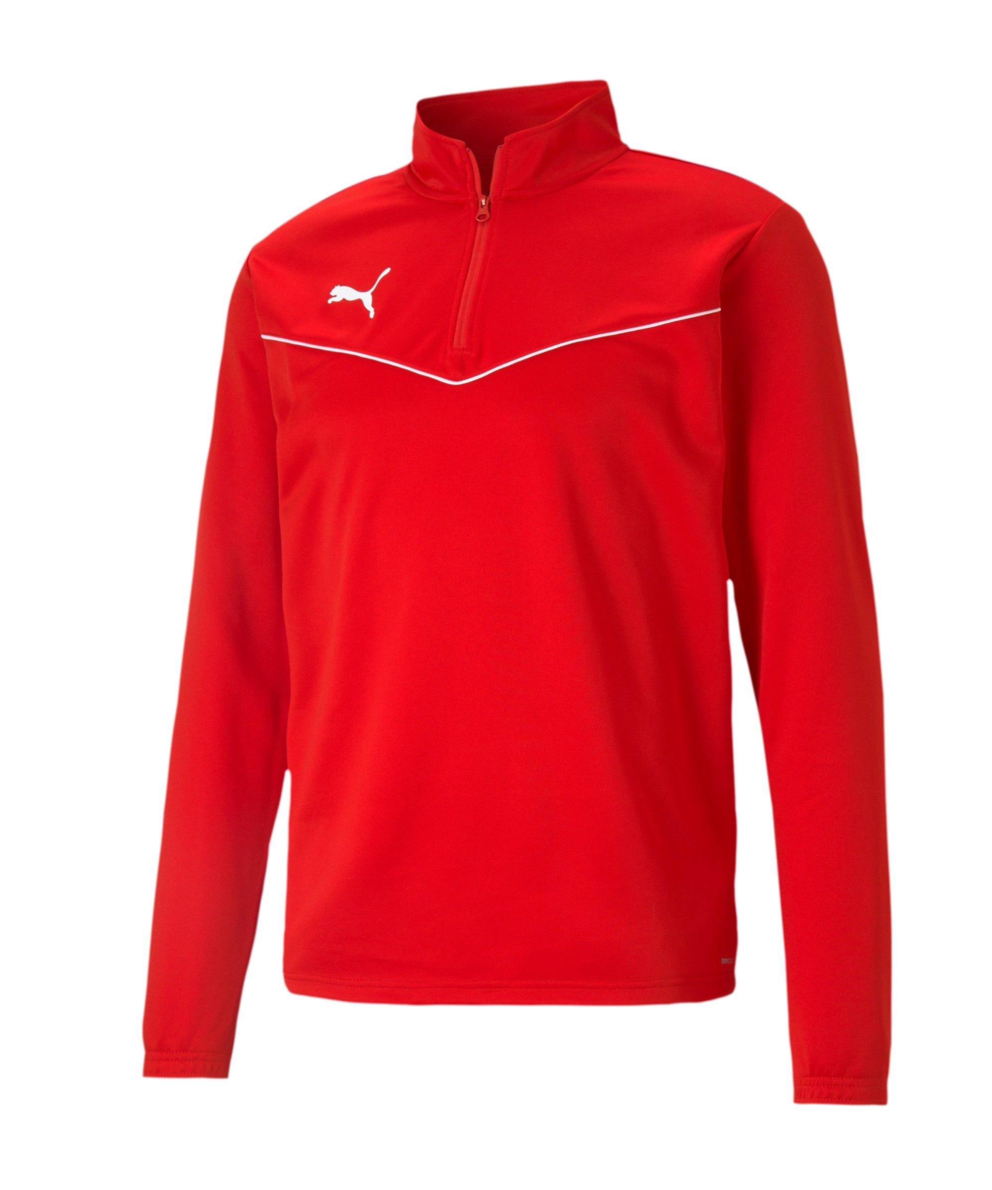PUMA teamRISE HalfZip Sweatshirt Rot F01 - rot