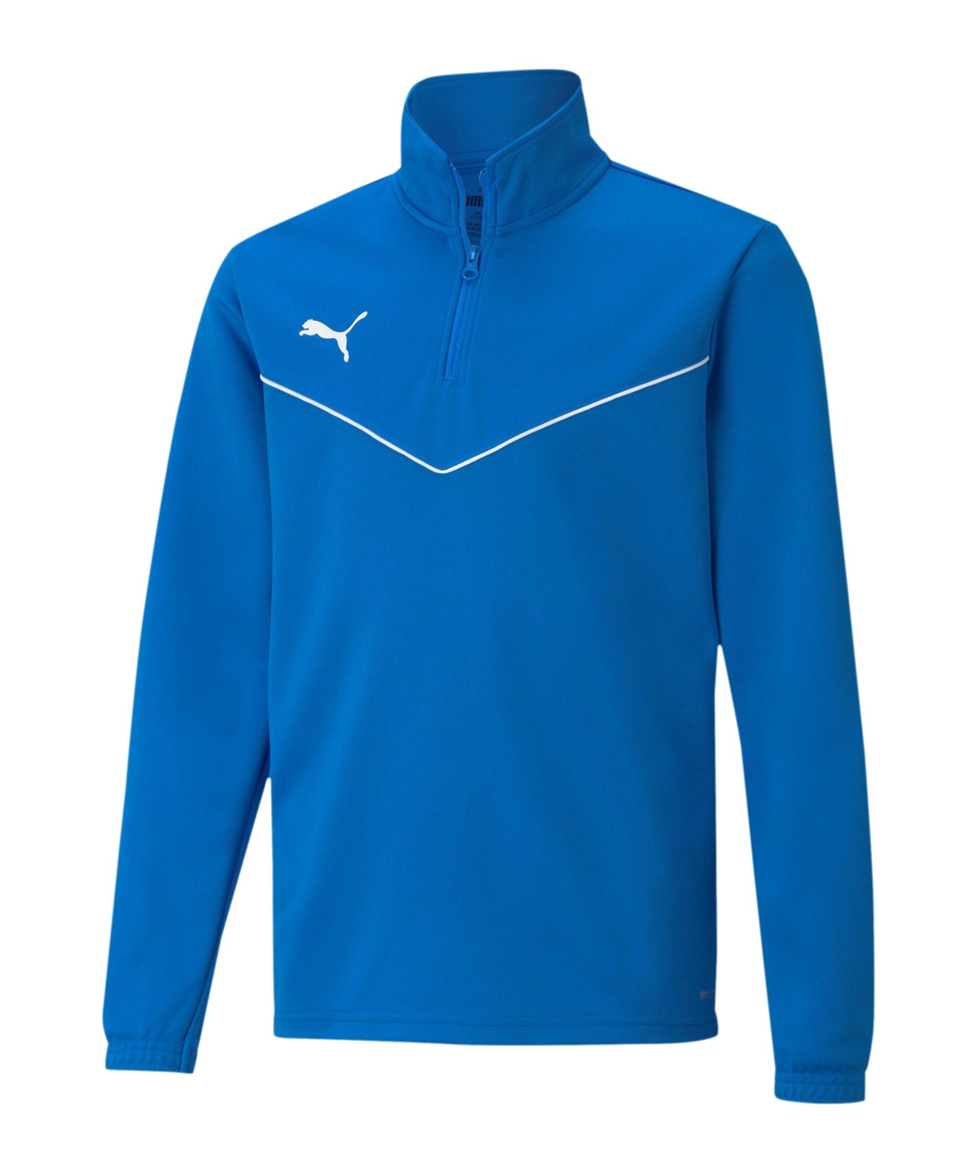 PUMA teamRISE HalfZip Sweatshirt Kids Blau F02 - blau