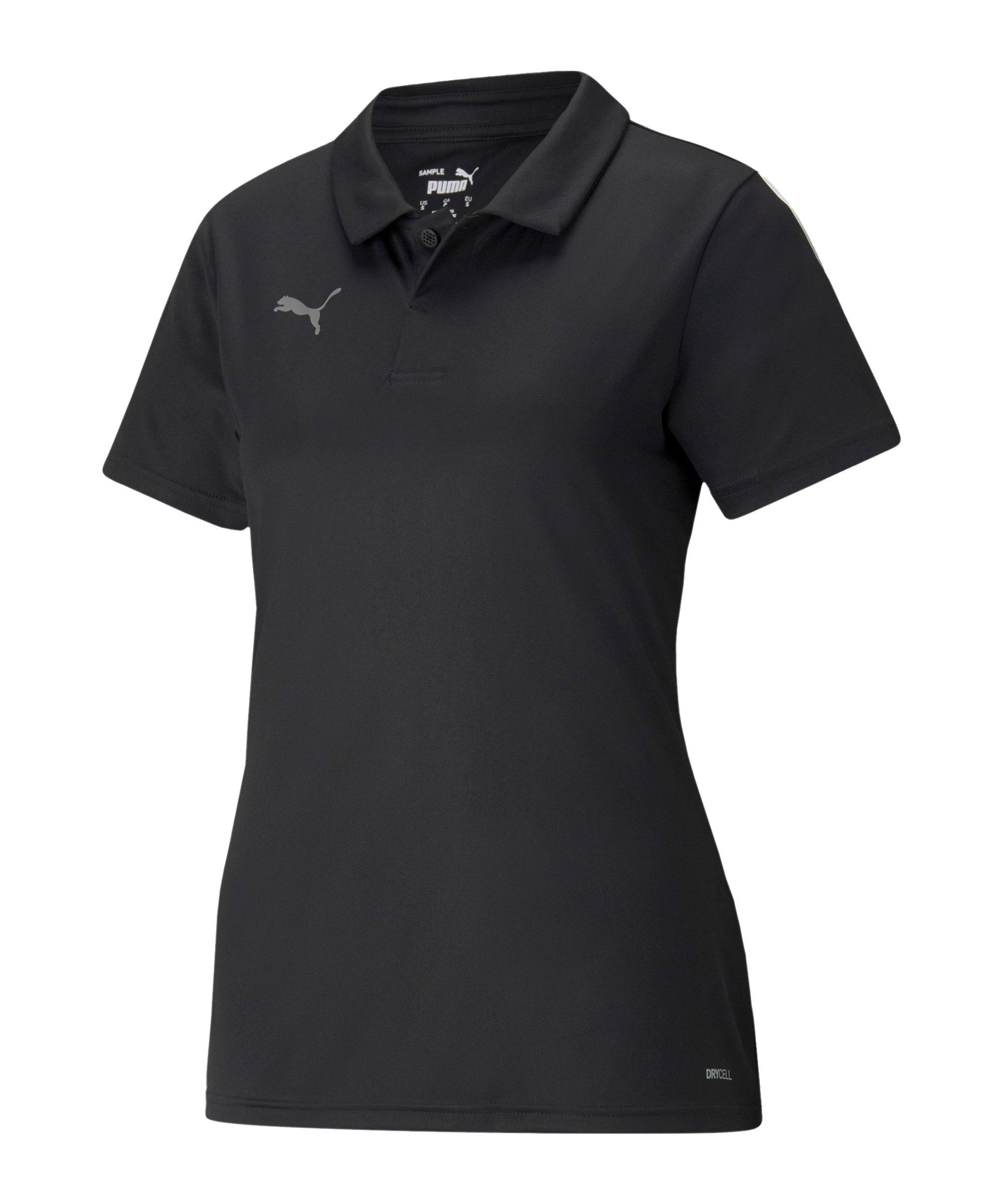 PUMA teamLIGA Sideline Polo Damen Schwarz F03 - schwarz