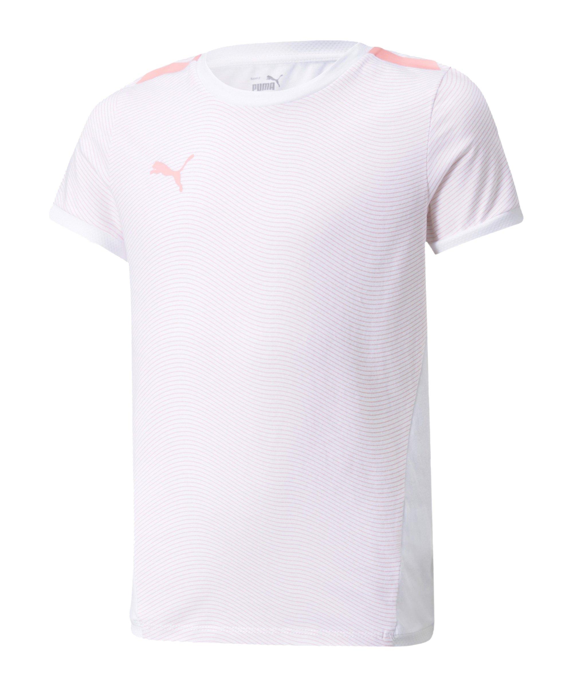PUMA individualLIGA T-Shirt Kids Weiss Pink F01 - weiss