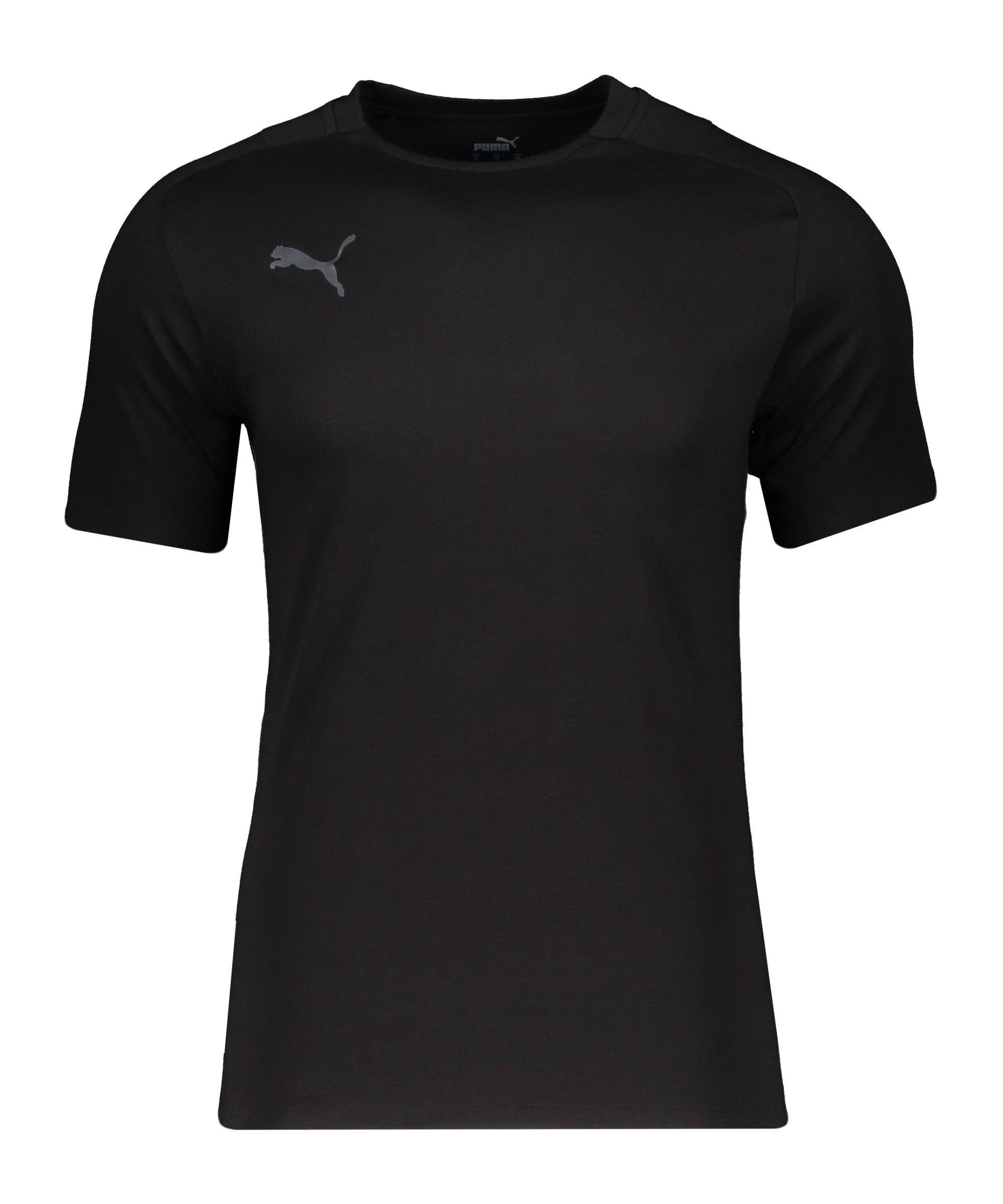 PUMA teamCUP Casuals T-Shirt Schwarz Grau F03 - schwarz