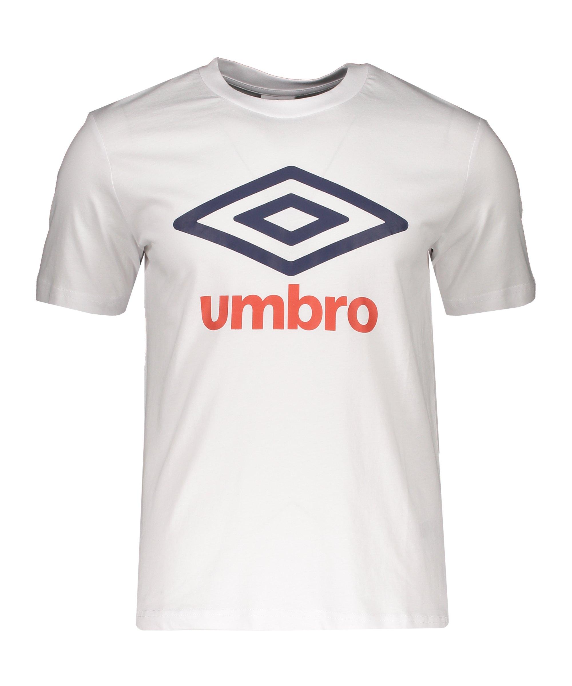 Umbro Large Logo T-Shirt Weiss FJG7 - weiss