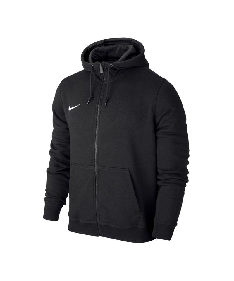 Nike Fullzip Hoody Jacke Team Club F010 Schwarz - schwarz