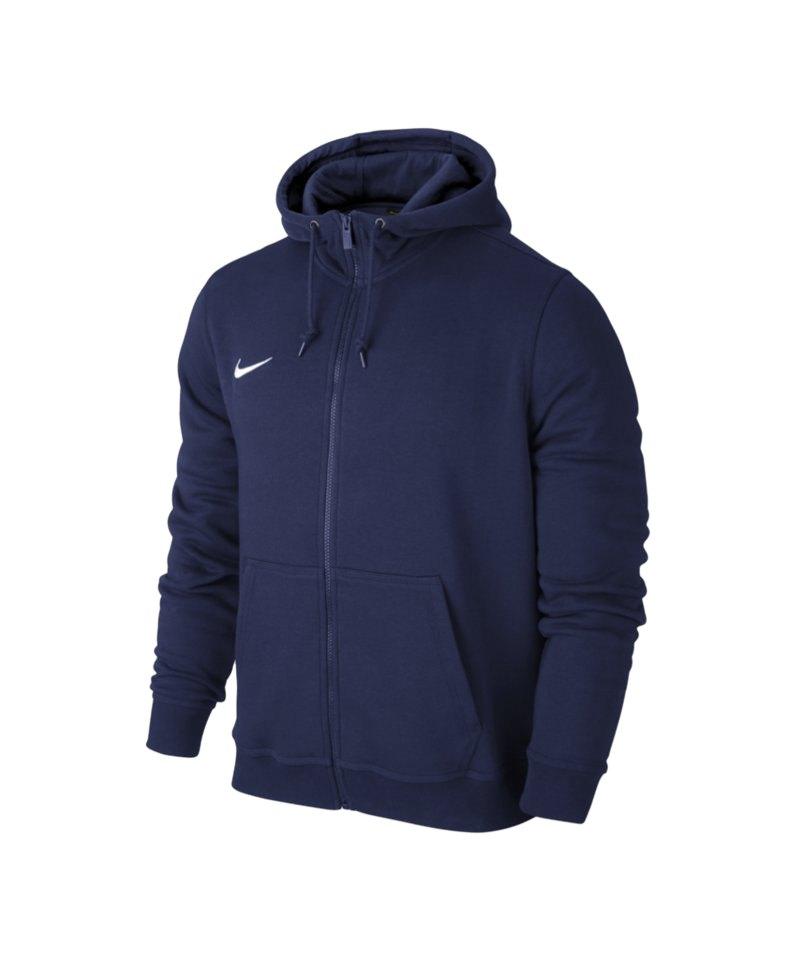Nike Fullzip Hoody Jacke Team Club F451 Blau