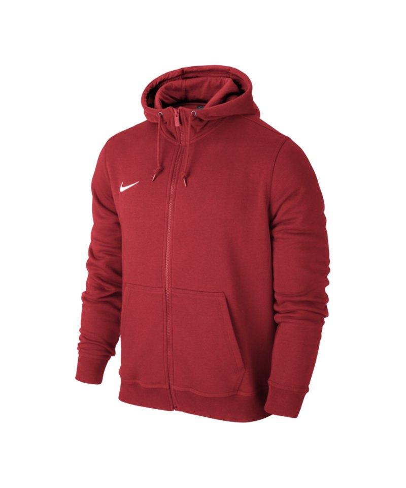 Nike Fullzip Hoody Jacke Team Club F657 Rot - rot