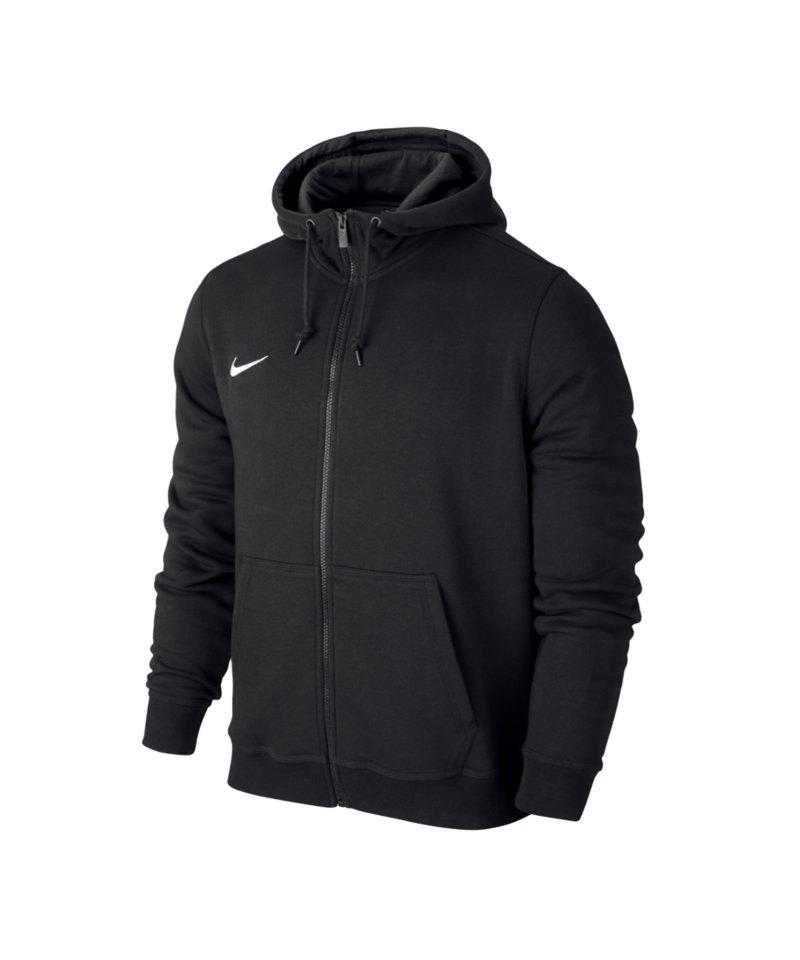 Nike Fullzip Hoody Team Club Kinder F010 Schwarz - schwarz