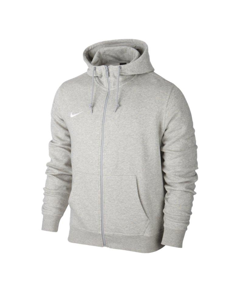 Nike Fullzip Hoody Team Club Kinder F050 Grau - grau