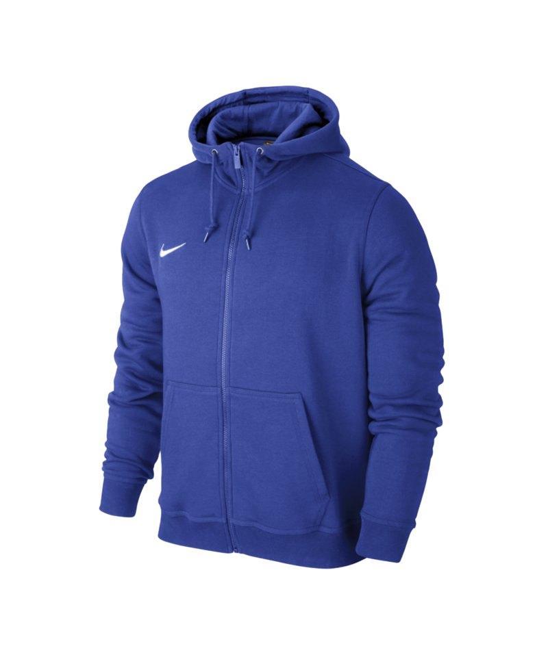 Nike Fullzip Hoody Team Club Kinder F463 Blau - blau