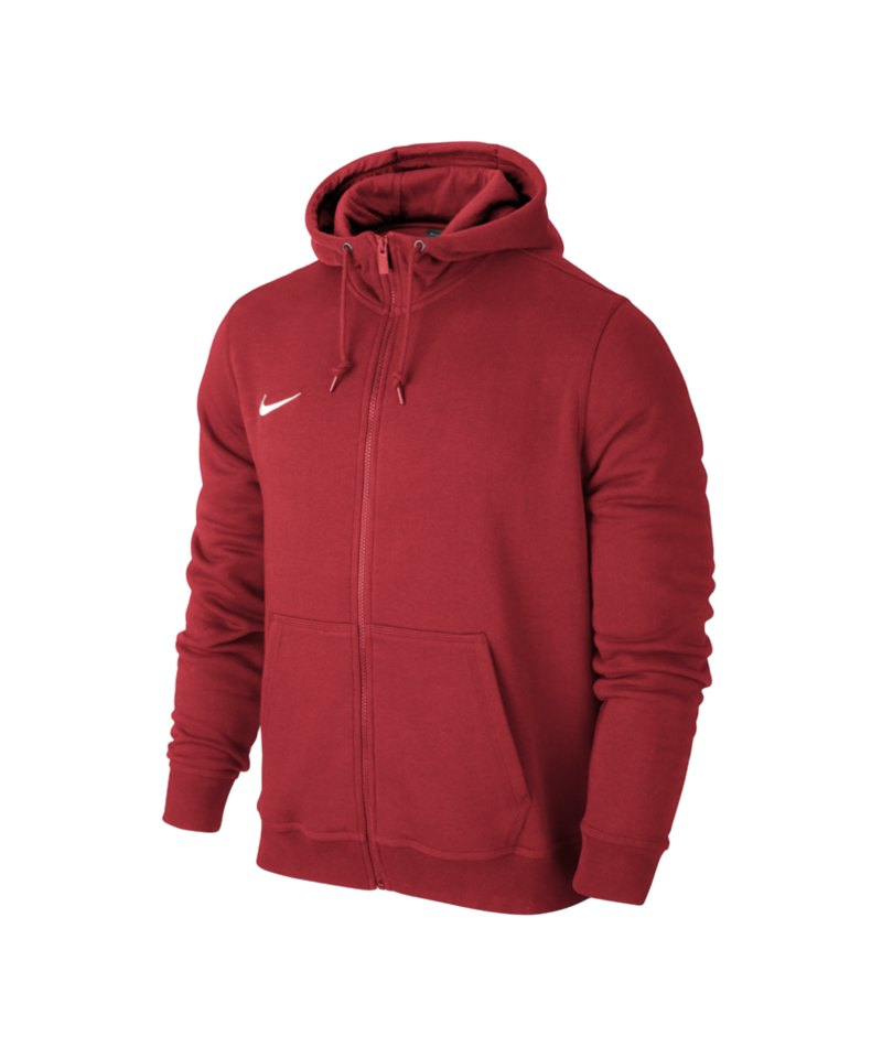 Nike Fullzip Hoody Team Club Kinder F657 Rot - rot